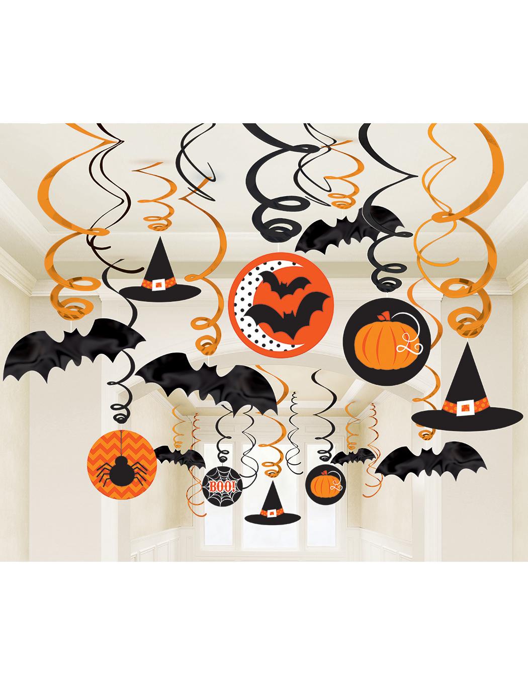 Confezione di 30 decorazioni da appendere di Halloween  Addobbi 28c00fda0dc4