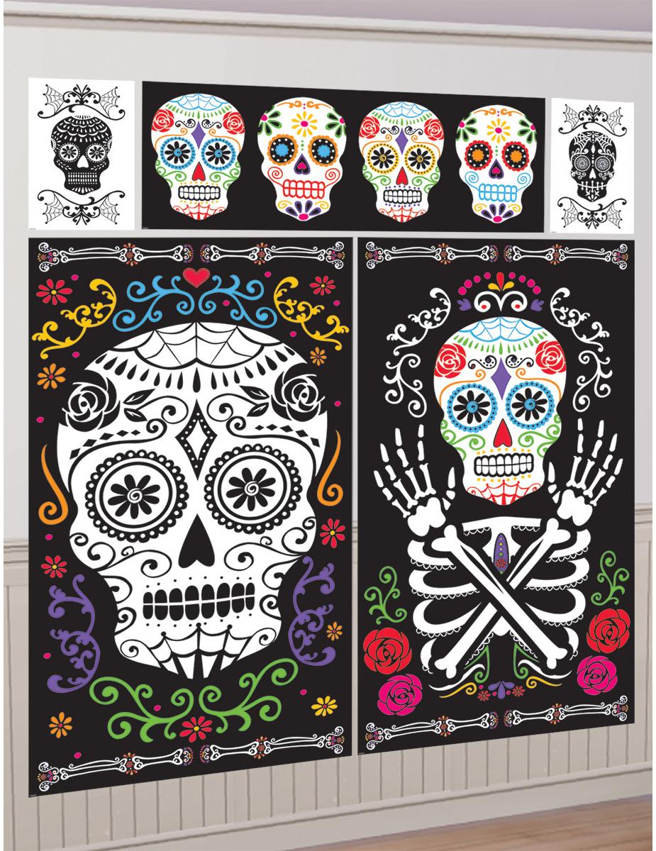 5 decorazioni murali halloween messicano addobbi e for Decorazioni murali