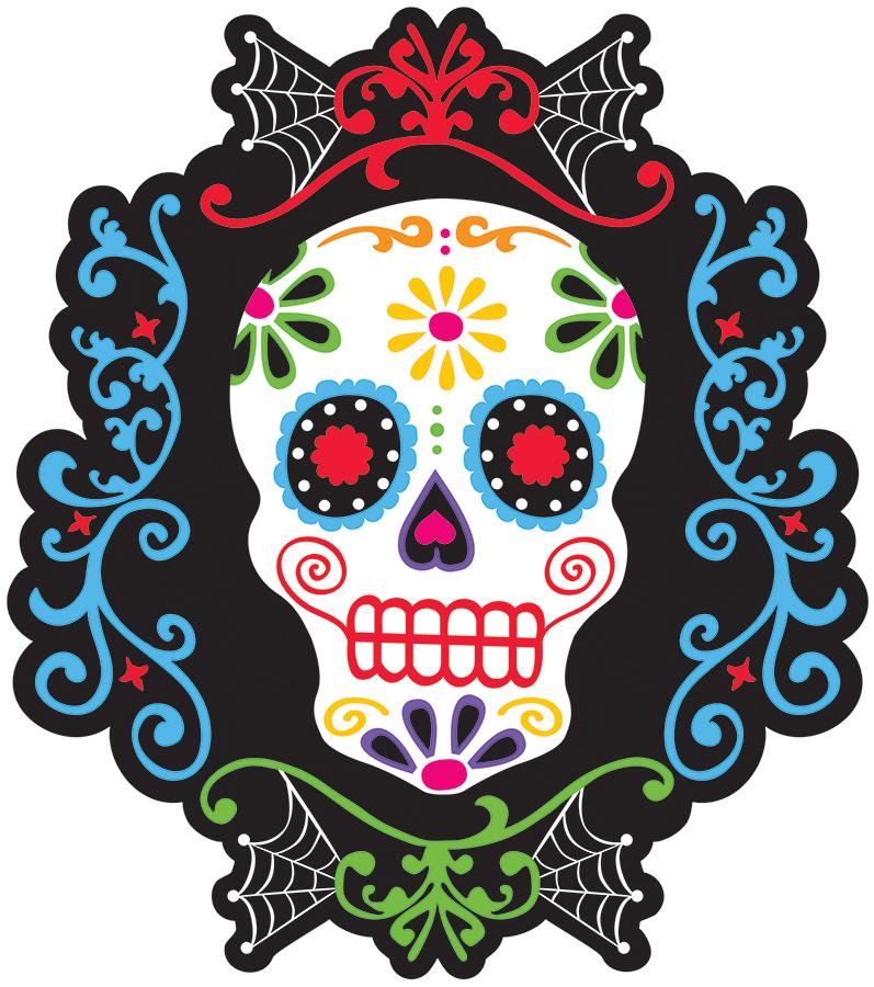 Decorazione murale teschio messicano addobbi e vestiti di - Decorazione murale ...