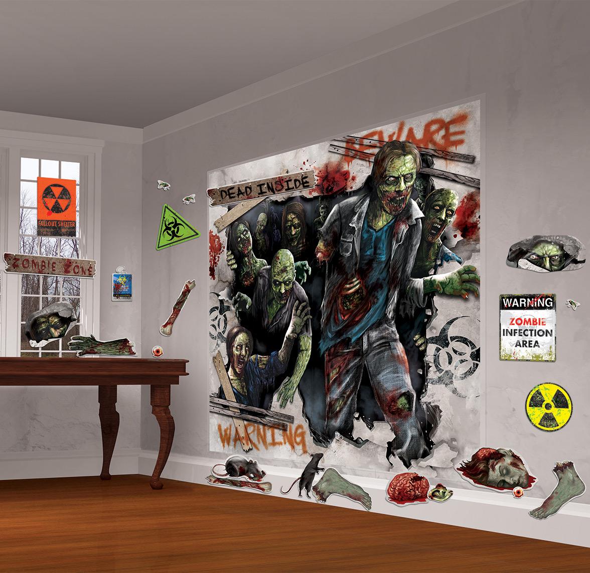Confezione per decorazione murale zombie di halloween - Decorazione murale ...