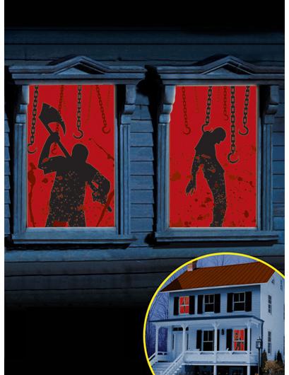 decorazioni sanguinanti per finestre : Addobbi,e vestiti di ...