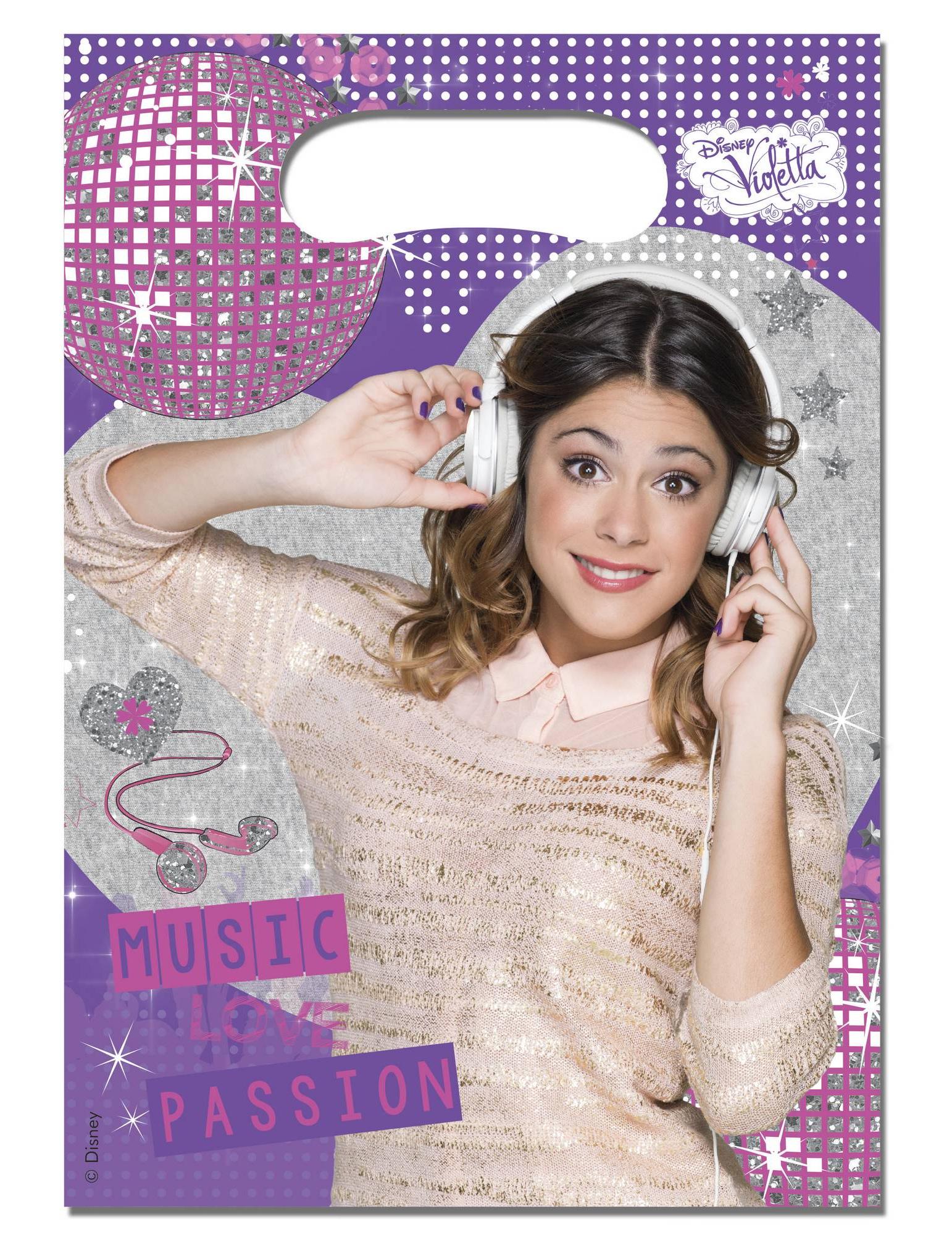 6 Sacchetti Per Caramelle Violetta Addobbie Vestiti Di Carnevale
