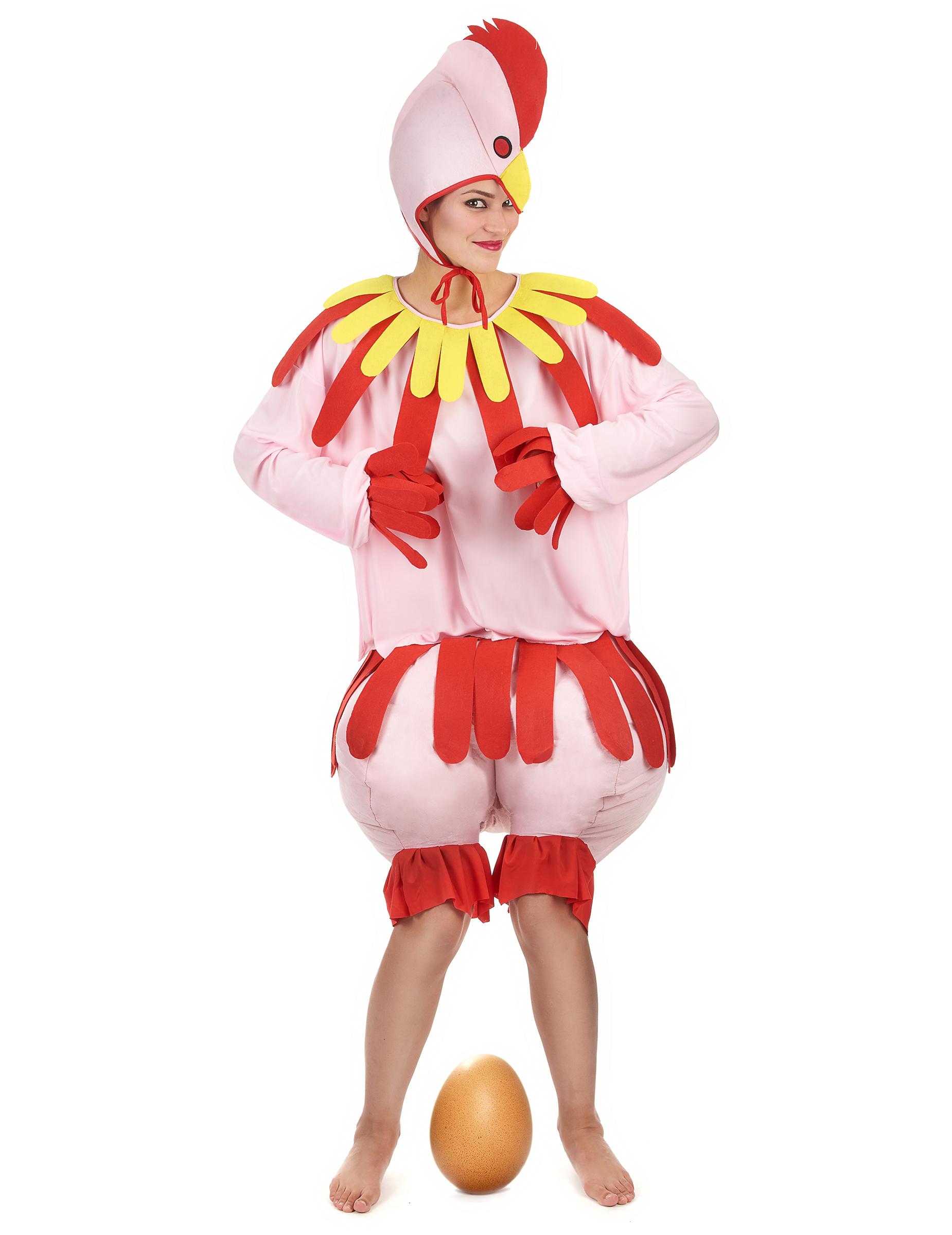 Costume da gallina per adulto  Costumi adulti b0184776d5bd
