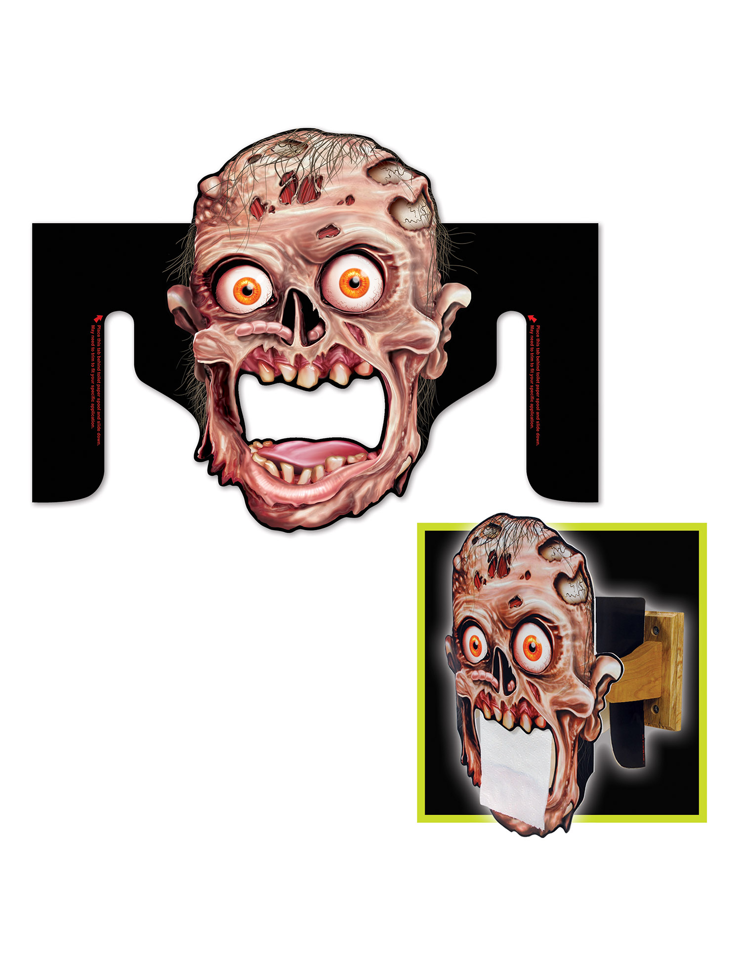 Porta carta igienica zombie halloween addobbi e vestiti - Albero porta carta igienica ...