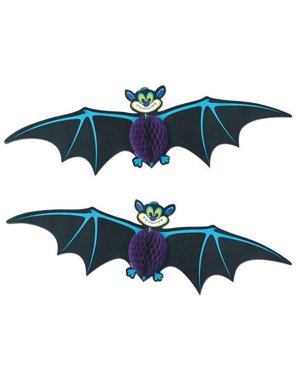2 decorazioni da appendere pipistrelli halloween addobbi for Decorazioni halloween da appendere