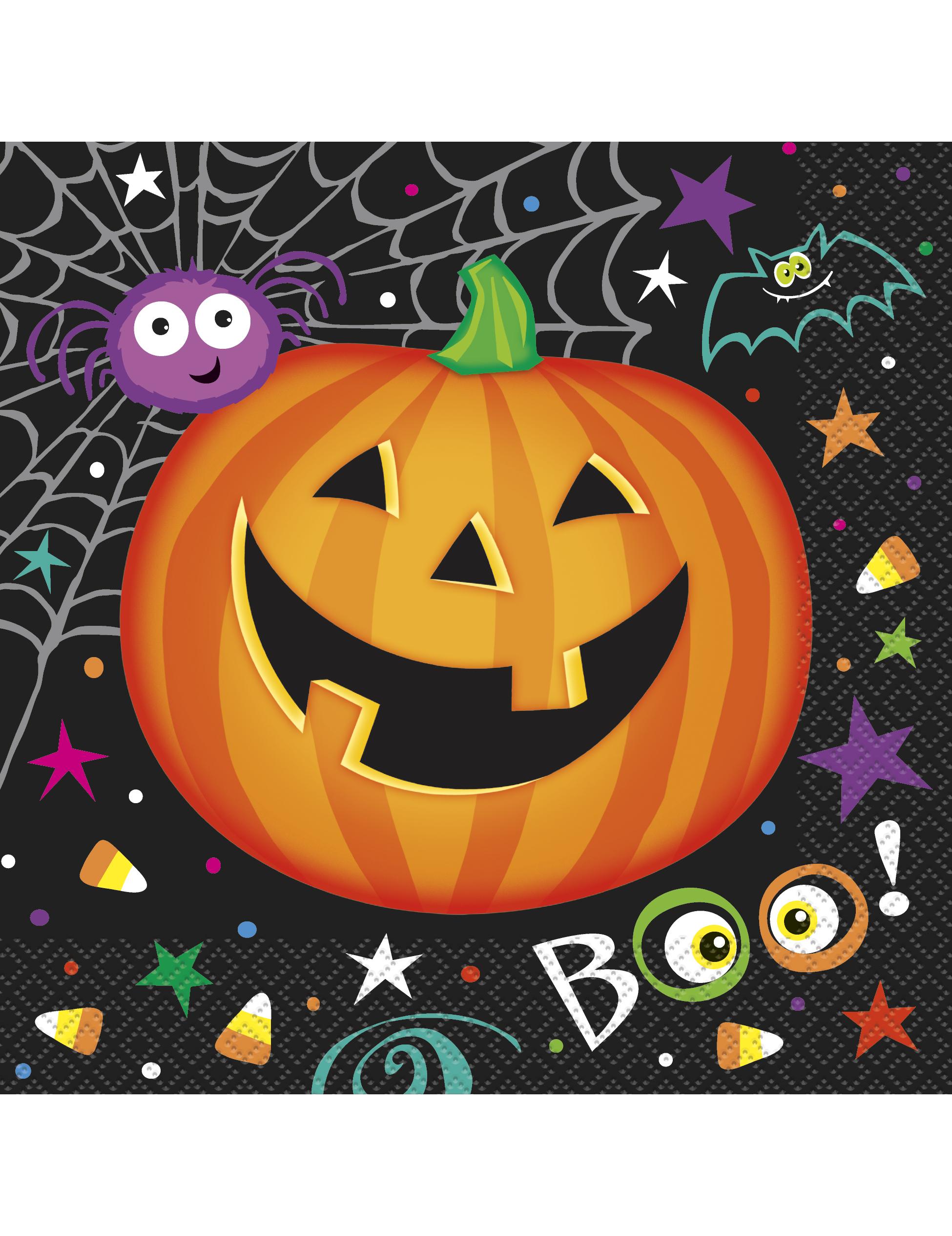 16 tovaglioli di carta zucca halloween addobbi e vestiti di carnevale online vegaoo - Tovaglioli di carta decorati ...