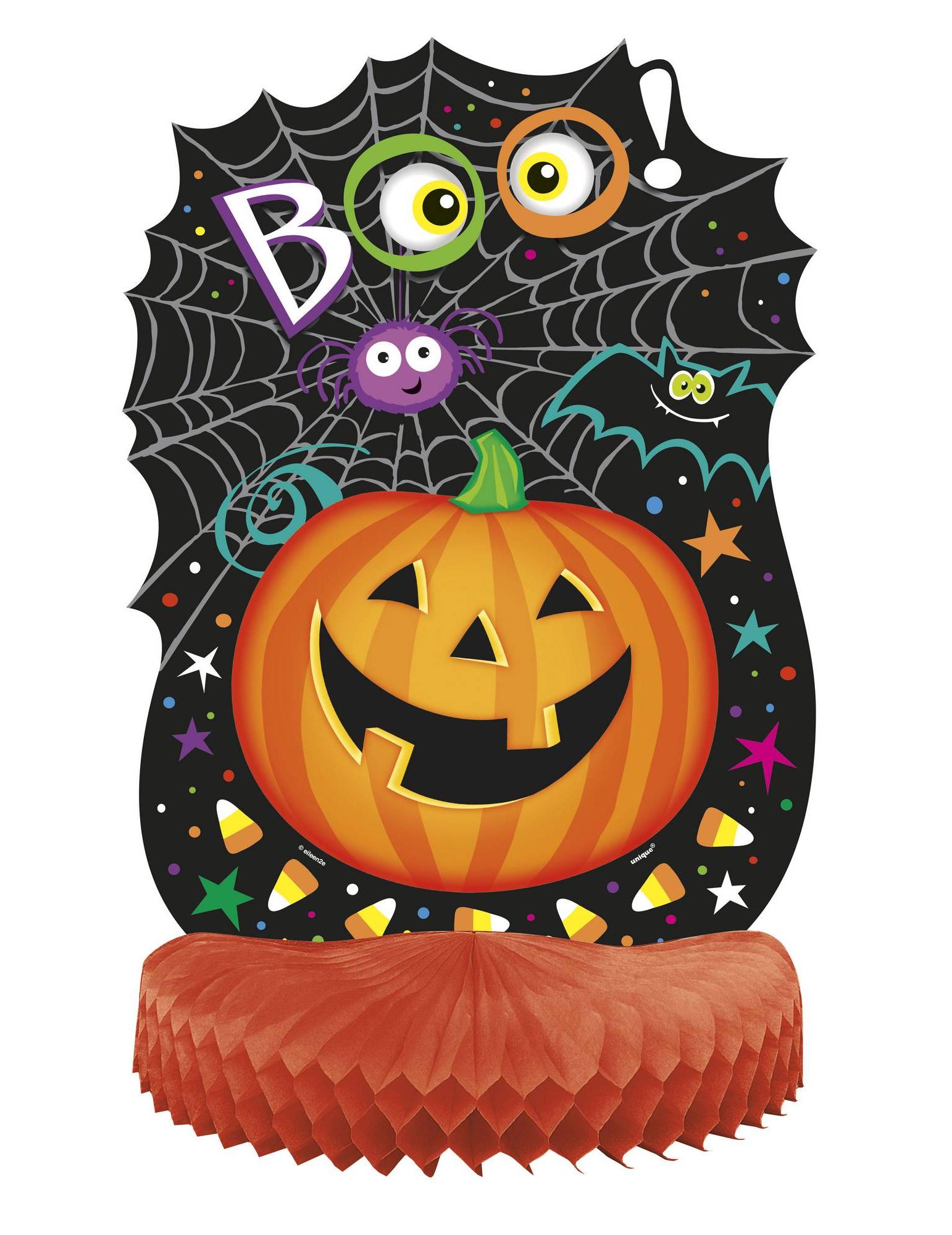 Decorazione Halloween Centro Tavola Zucca Sorridente