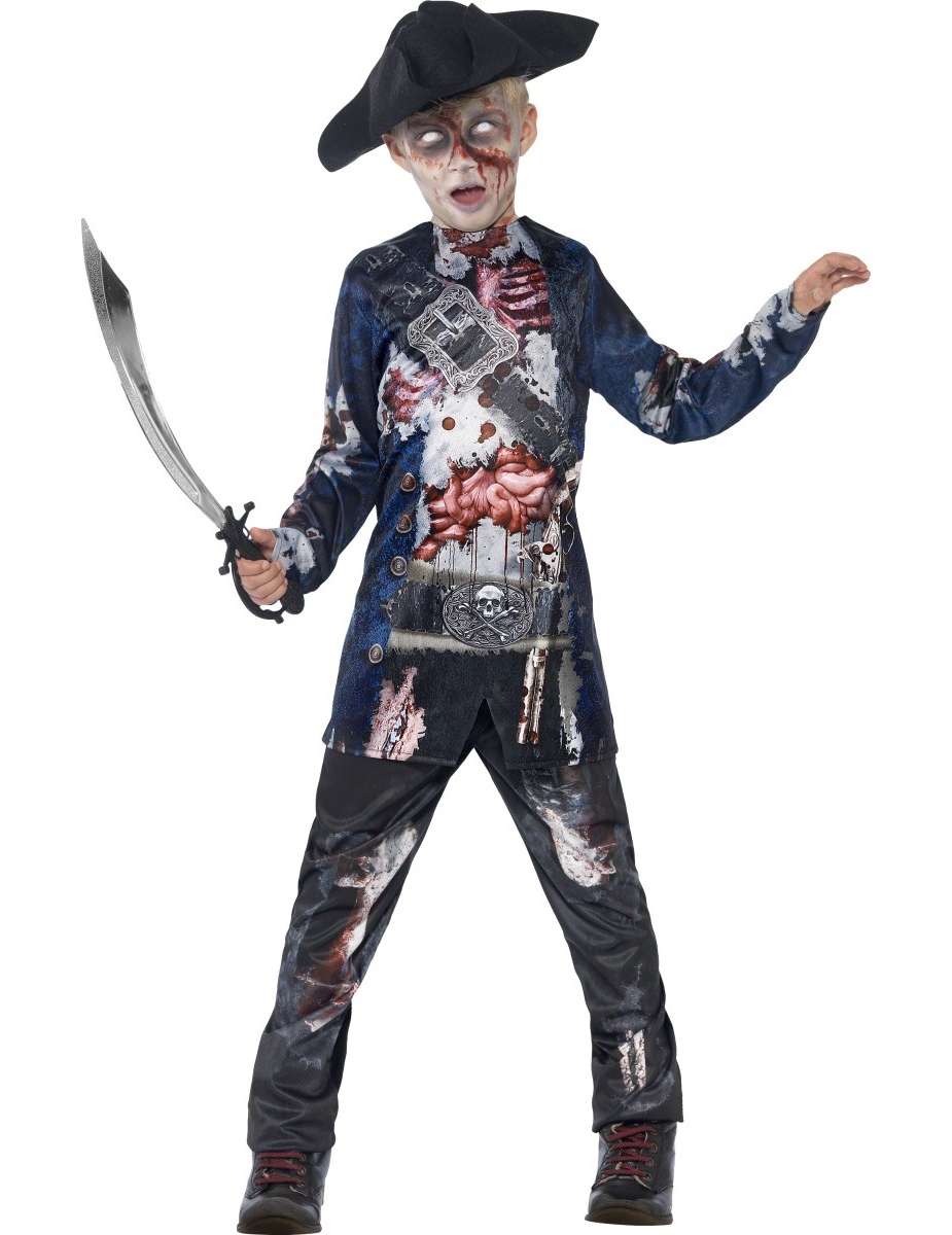 Costume da zombie pirata bambino  Costumi bambini 27a8e465bbf