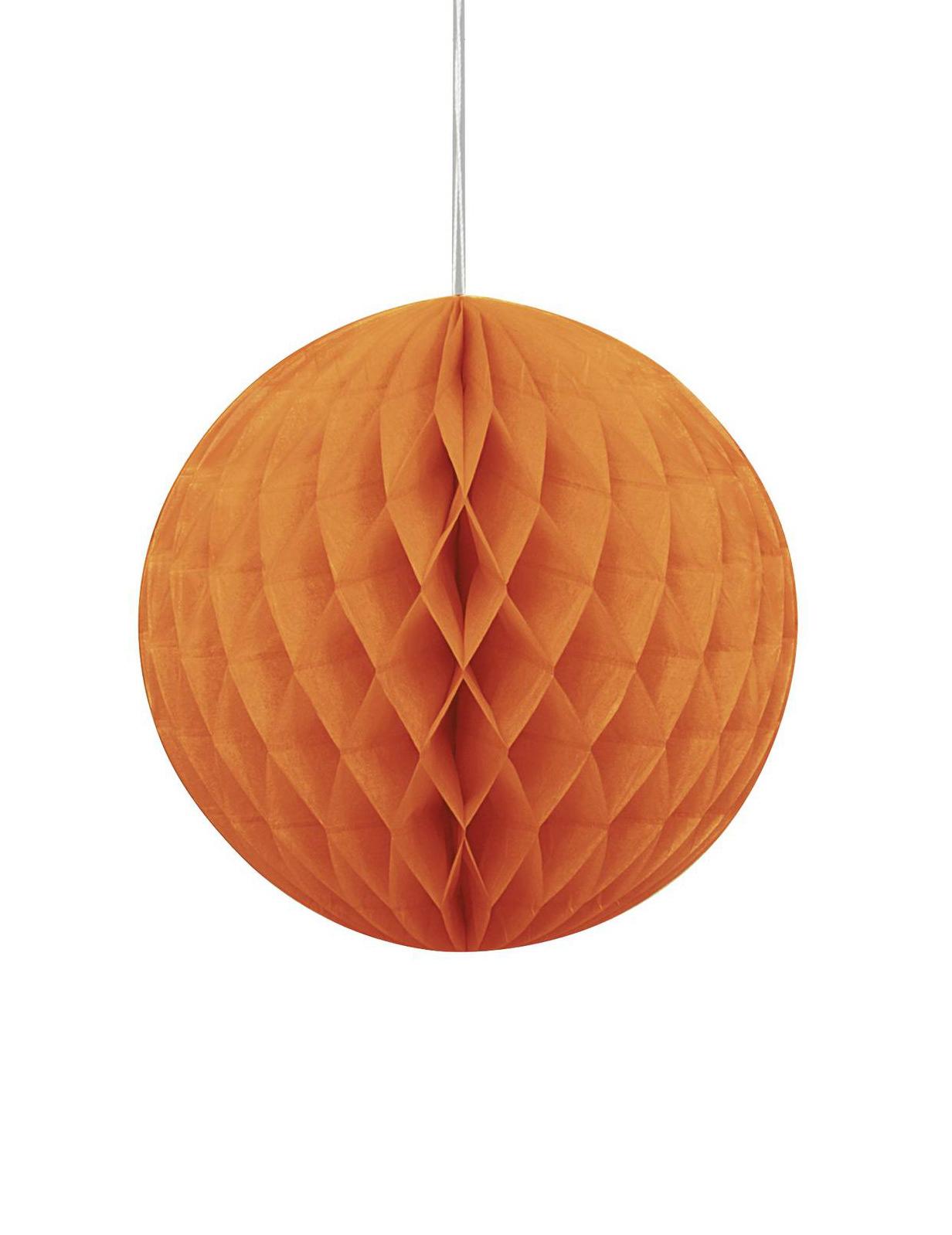 Palla Di Carta Arancione Decorazione Di Halloween Addobbi