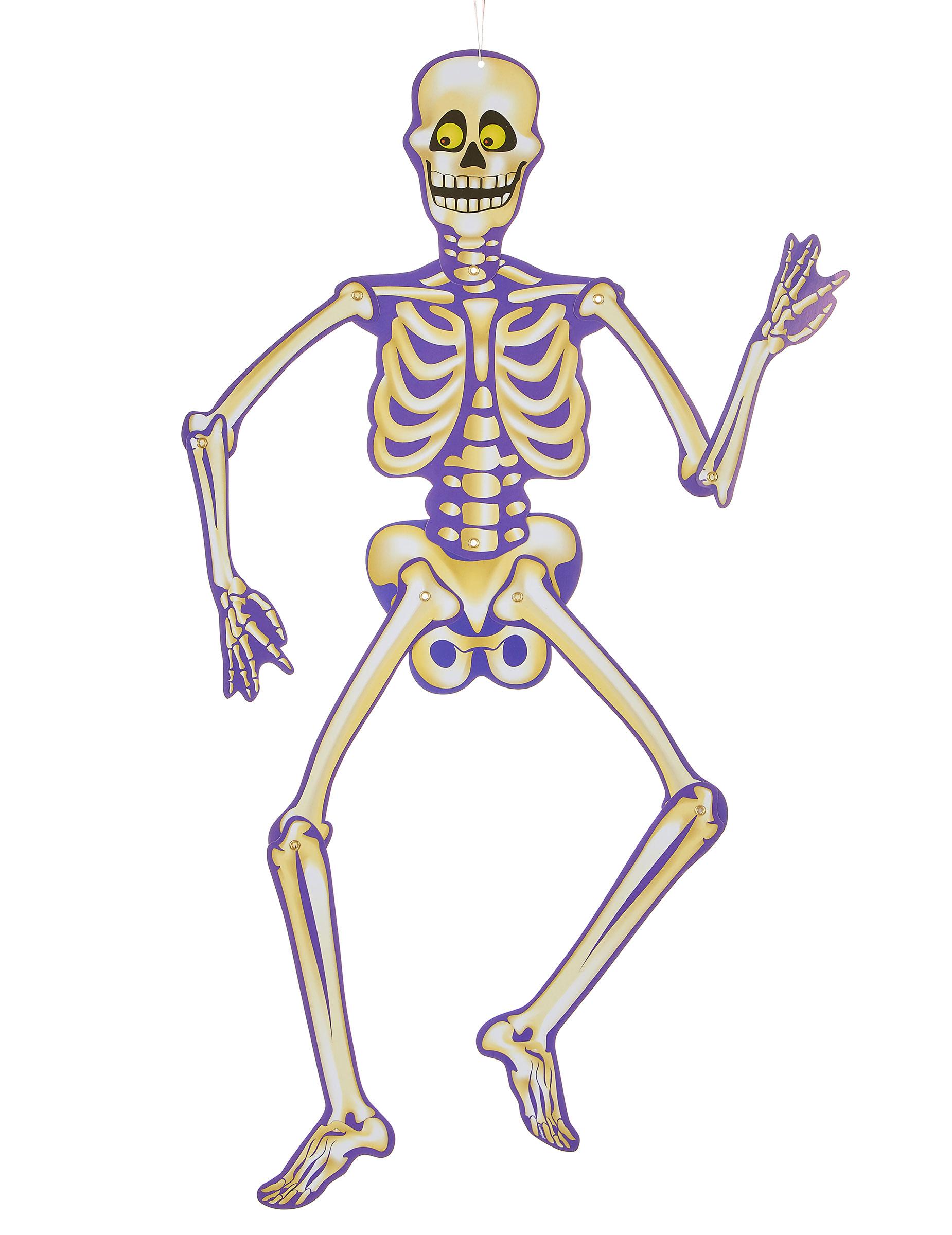 Decorazione di halloween scheletro di carta da sospendere - Scheletro foglio da colorare ...