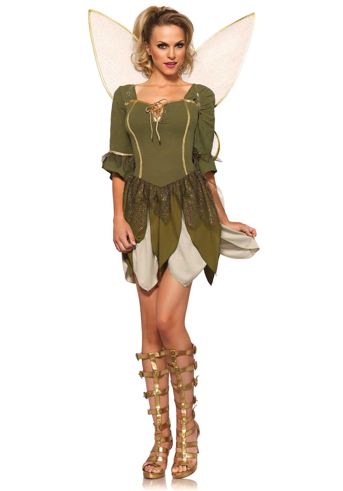 Travestimento fata dei boschi donna  Costumi adulti fe4bd7c5291
