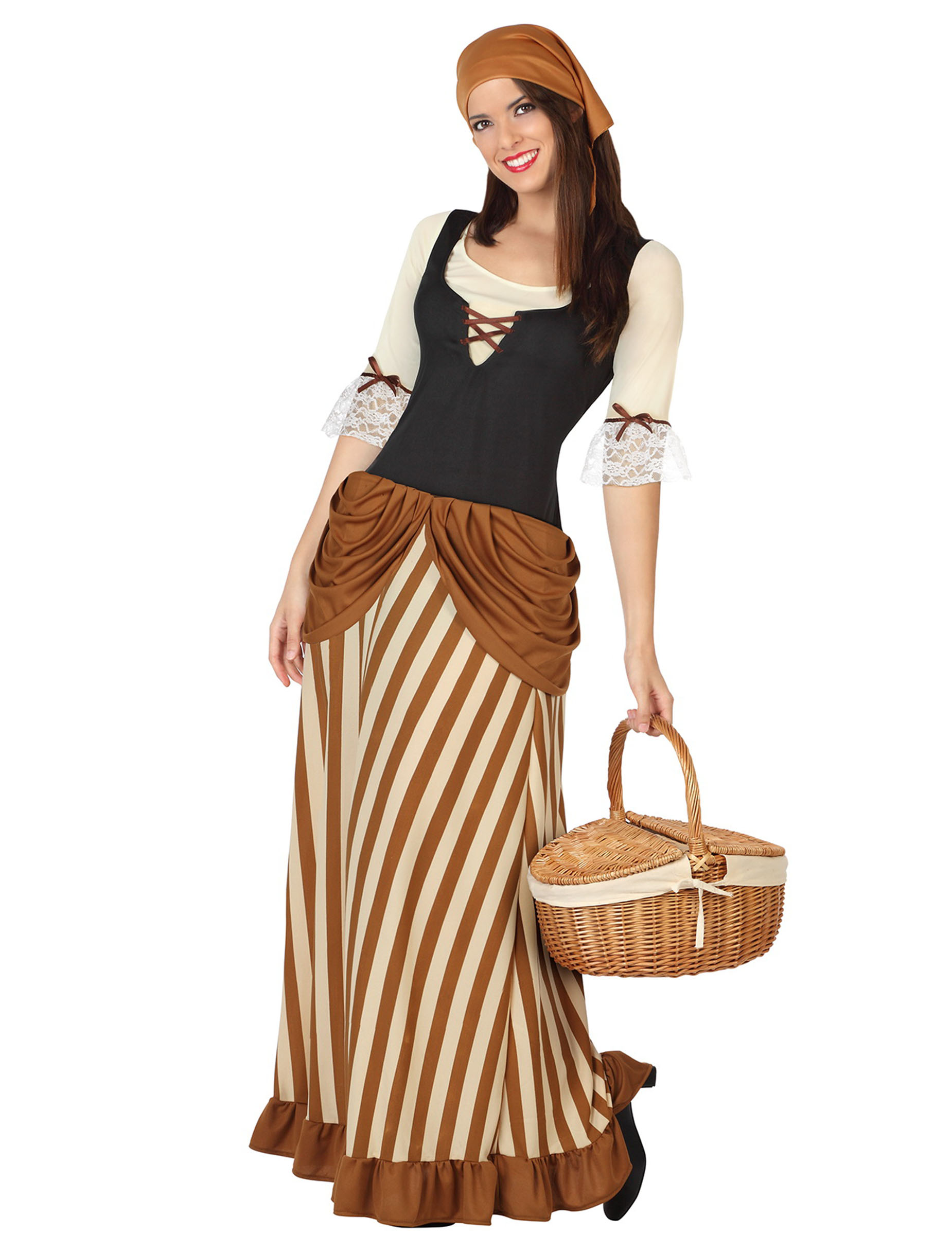 Costume Popolana del Medioevo donna  Costumi adulti 979137458371