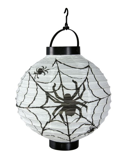 Decorazione Di Halloween Lanterna Di Carta Con Ragnatela