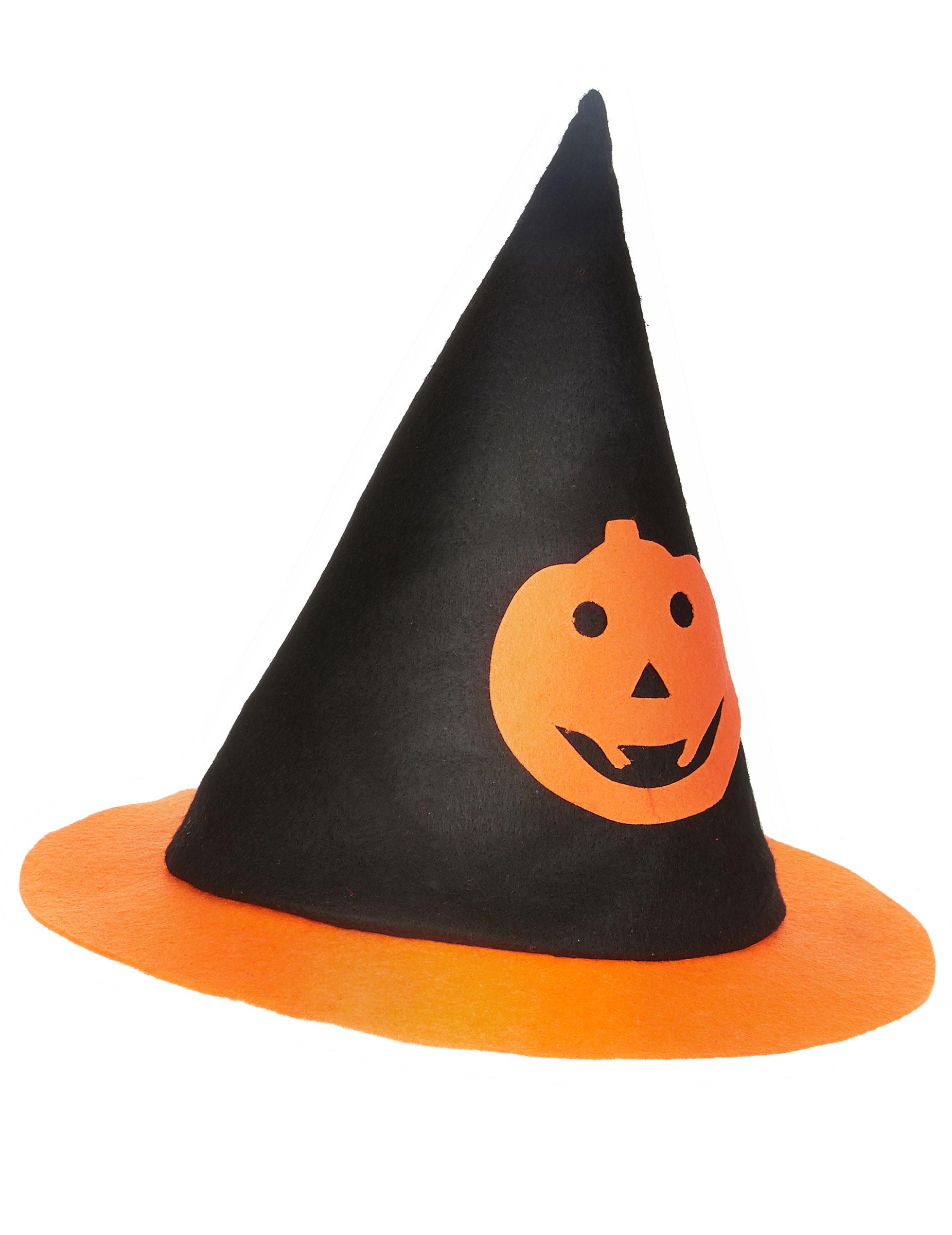 Cappello strega zucca bambino Halloween  Cappelli 33ed065e4422