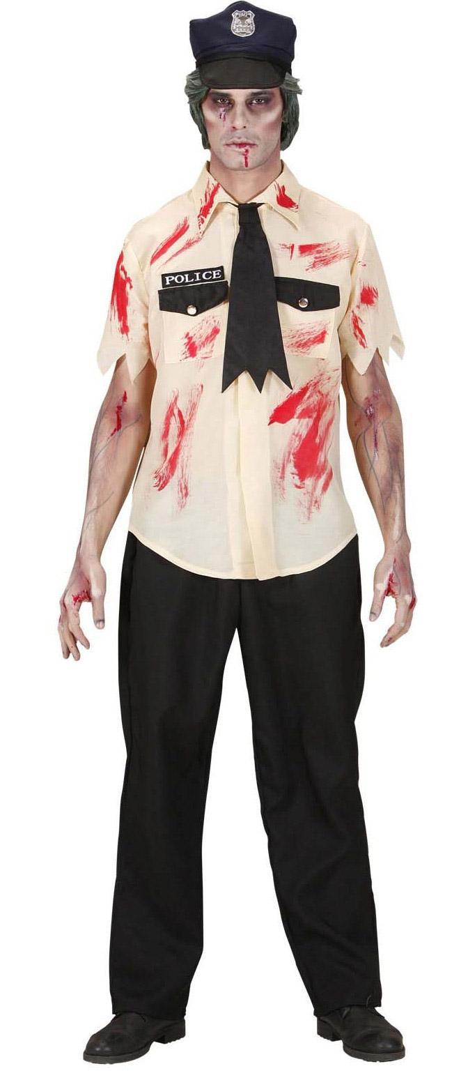 Zombie POLIZIOTTO POLIZIOTTO Adulto Bambino Halloween Horror Costume