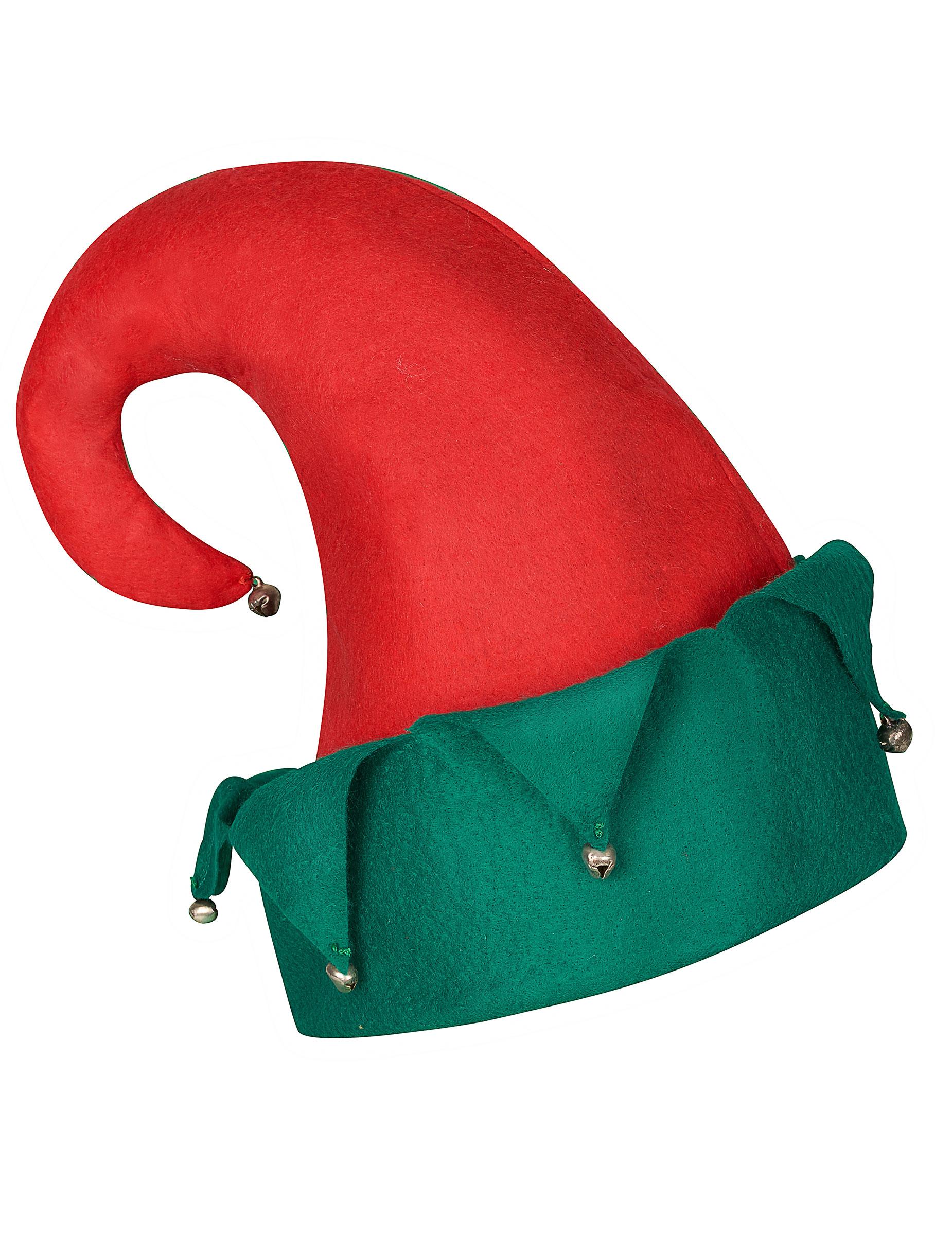 Cappello folletto di Babbo Natale con campanelli  Cappelli 7746440c511f