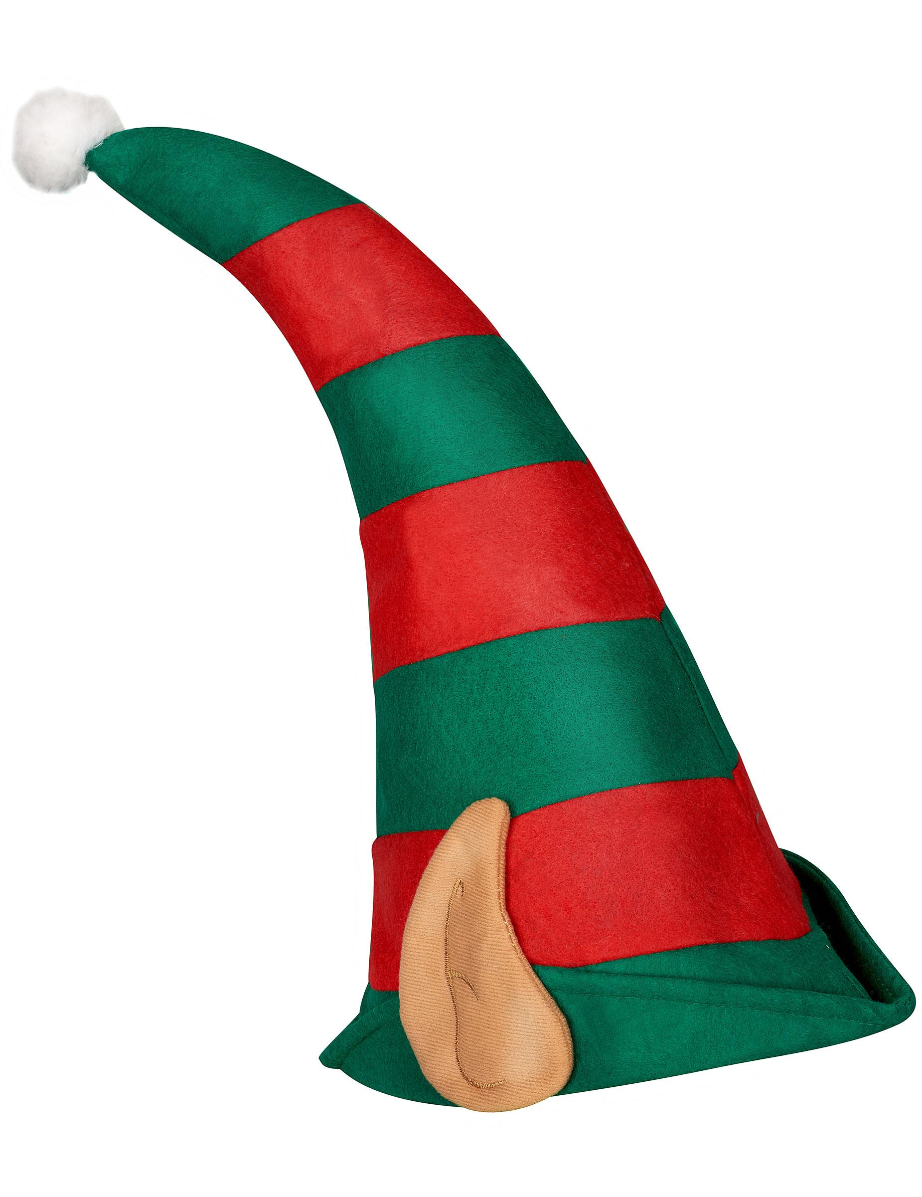 Cappello folletto di babbo natale con orecchie cappelli e vestiti di carnevale online vegaoo - Acquisto folletto on line ...