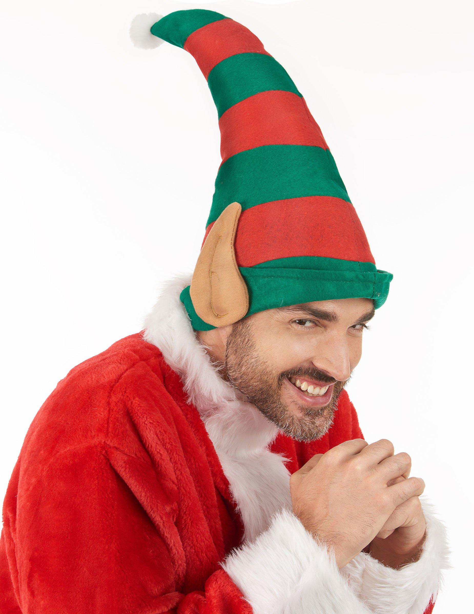 Cappello folletto di Babbo Natale con orecchie  Cappelli 9c105392a2b1