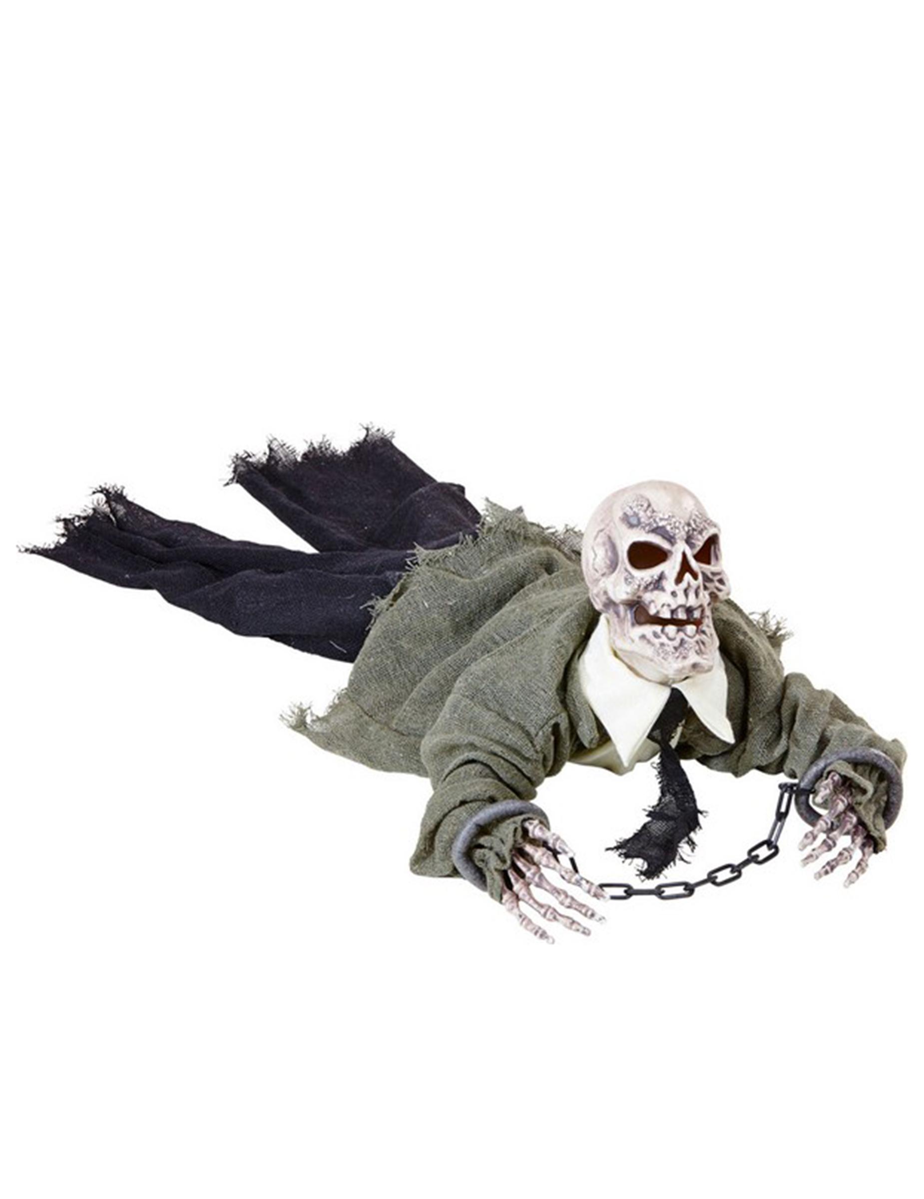 decorazione scheletro animato luminoso e sonoro halloween addobbi e vestiti di carnevale. Black Bedroom Furniture Sets. Home Design Ideas