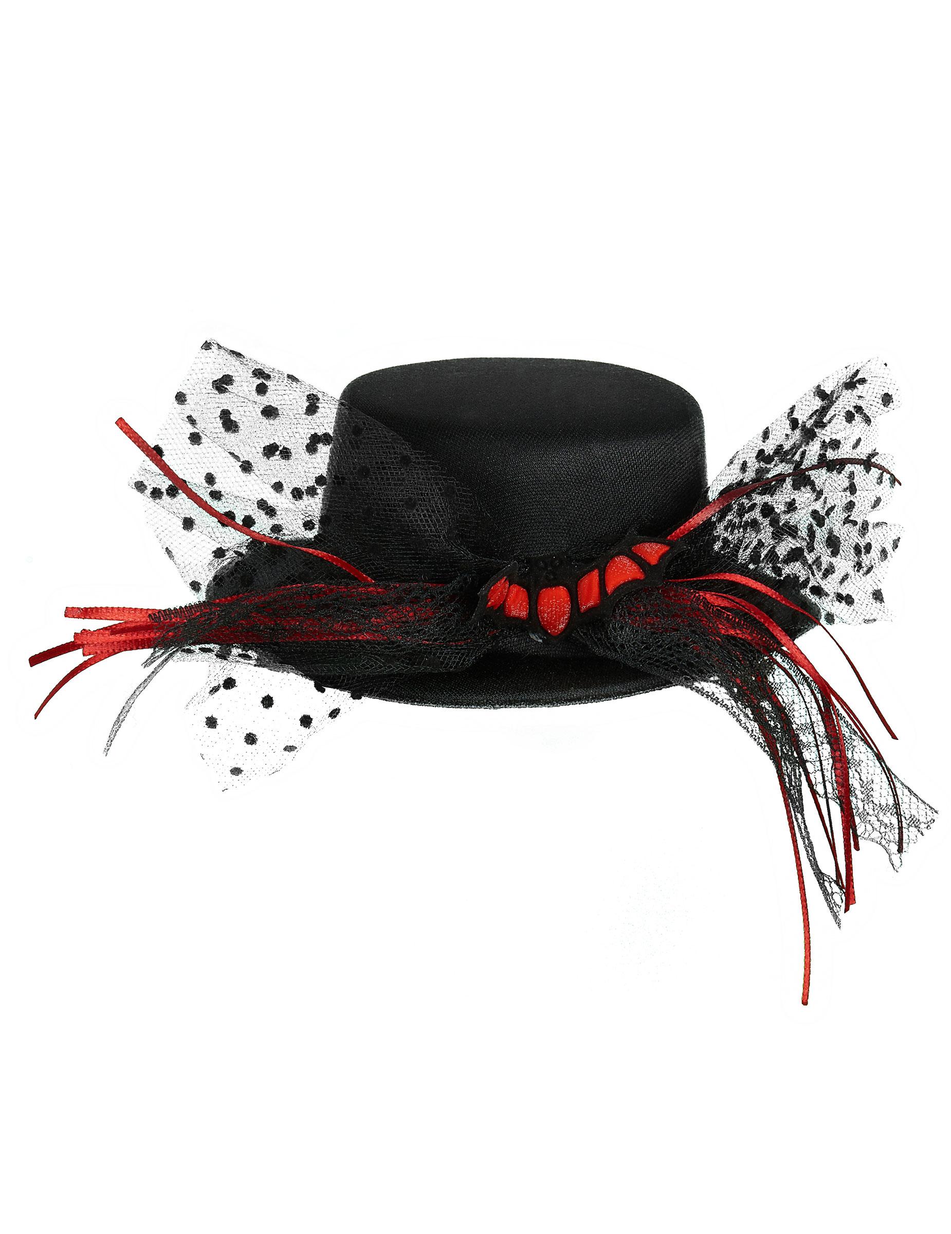mini cappello pipistrello donna halloween accessori e vestiti di carnevale online vegaoo. Black Bedroom Furniture Sets. Home Design Ideas
