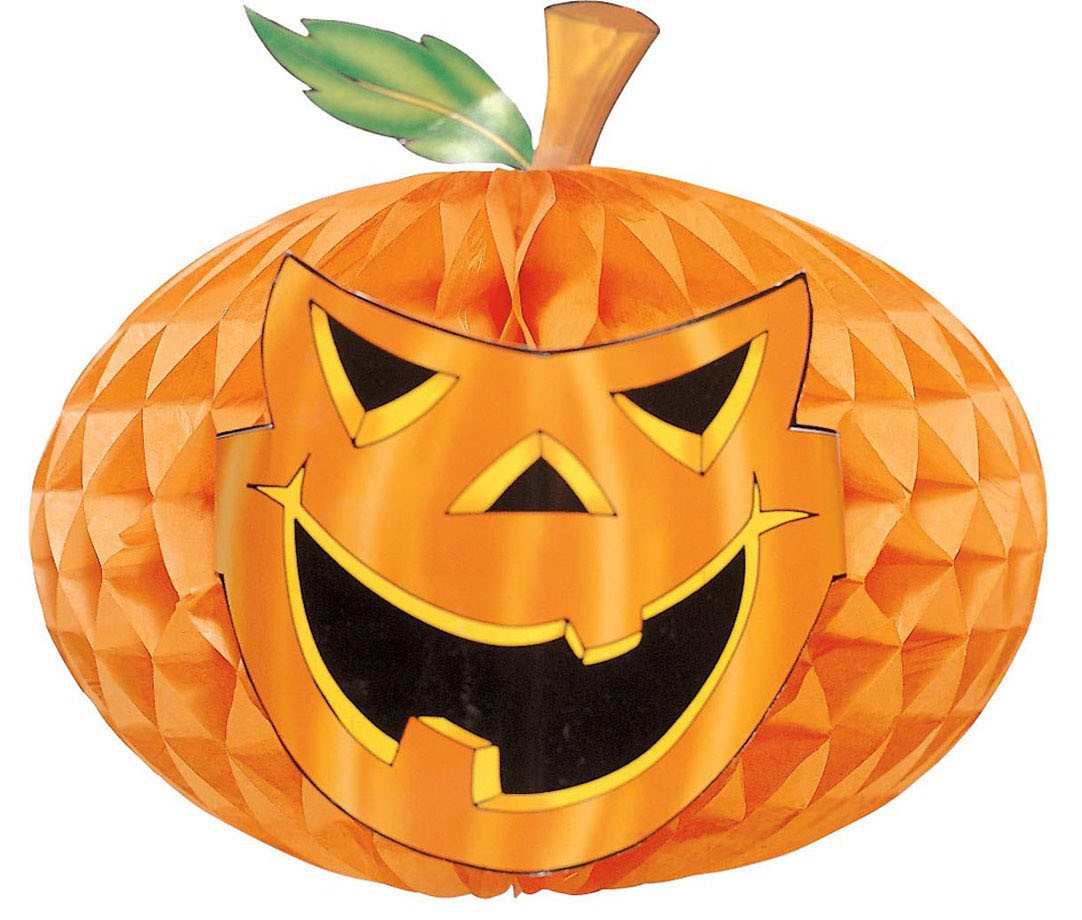 Decorazione Halloween: festone zucca di carta