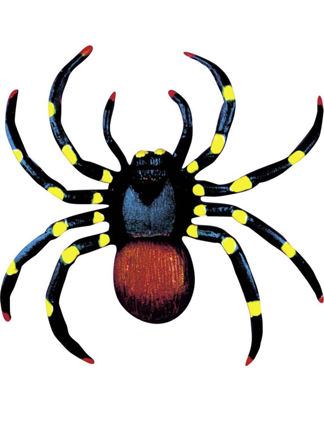 decorazione halloween 2 ragni colorati addobbi e vestiti