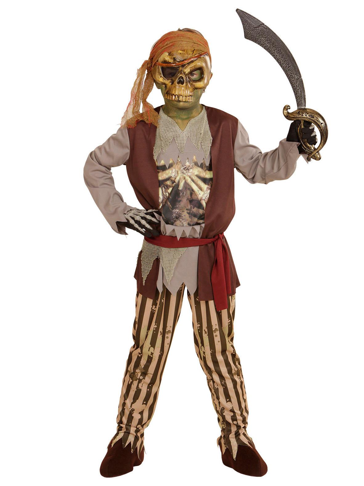 Costume da zombie pirata bambino Halloween : Costumi ...