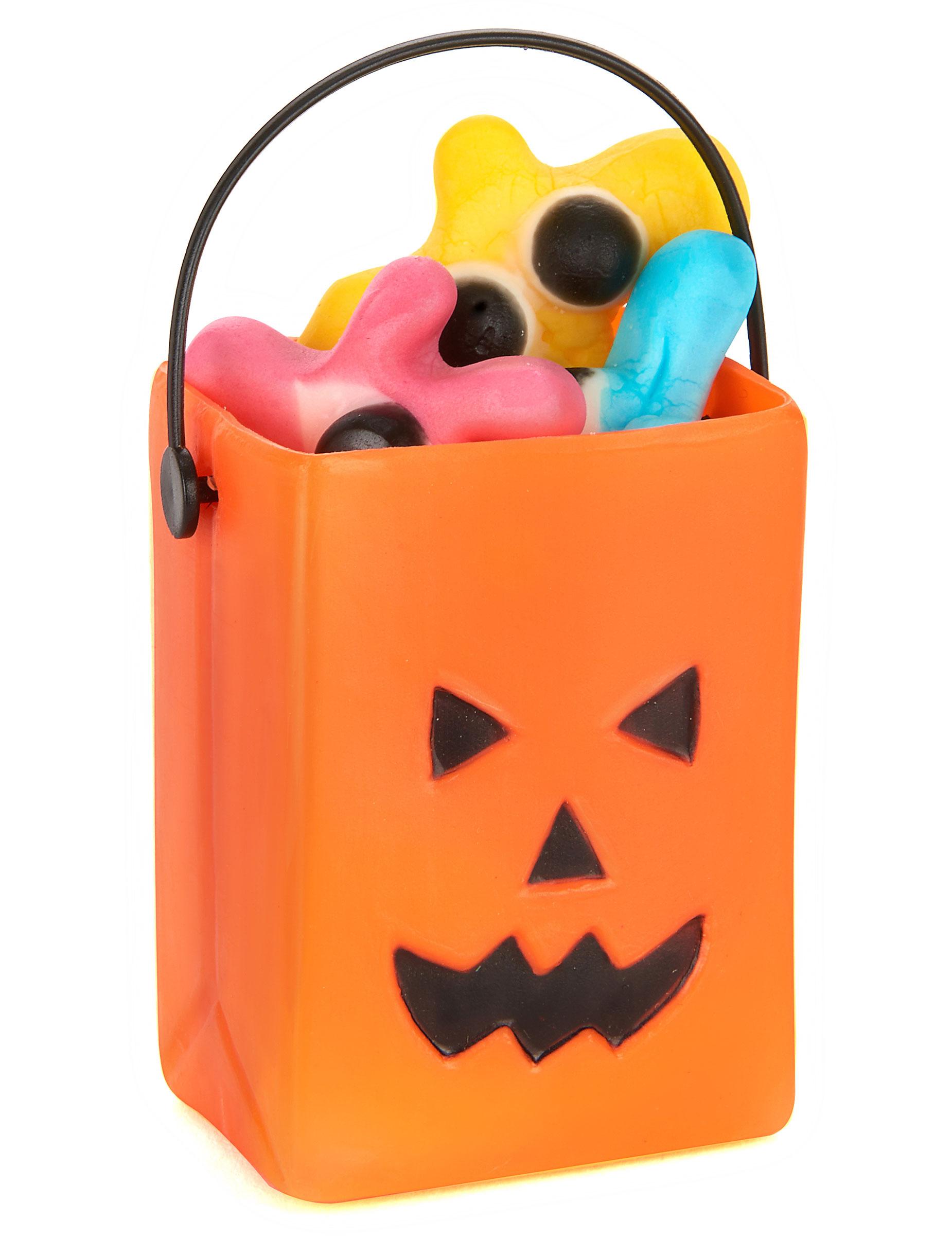 Decorazione Di Halloween 6 Secchielli Per Caramelle Zucca