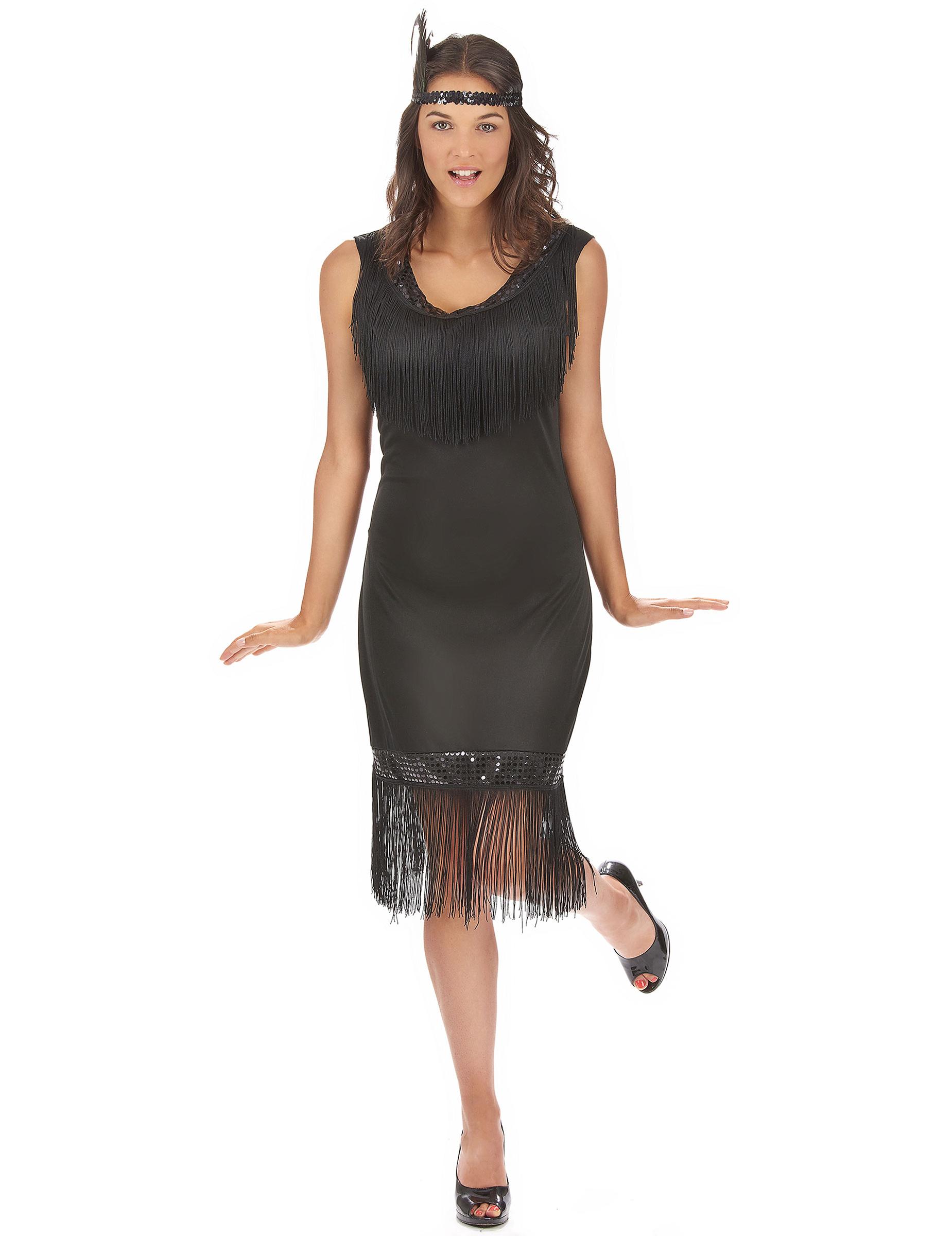 cd0ed6ecc692 Costume Charleston nero per donna: Costumi adulti,e vestiti di ...