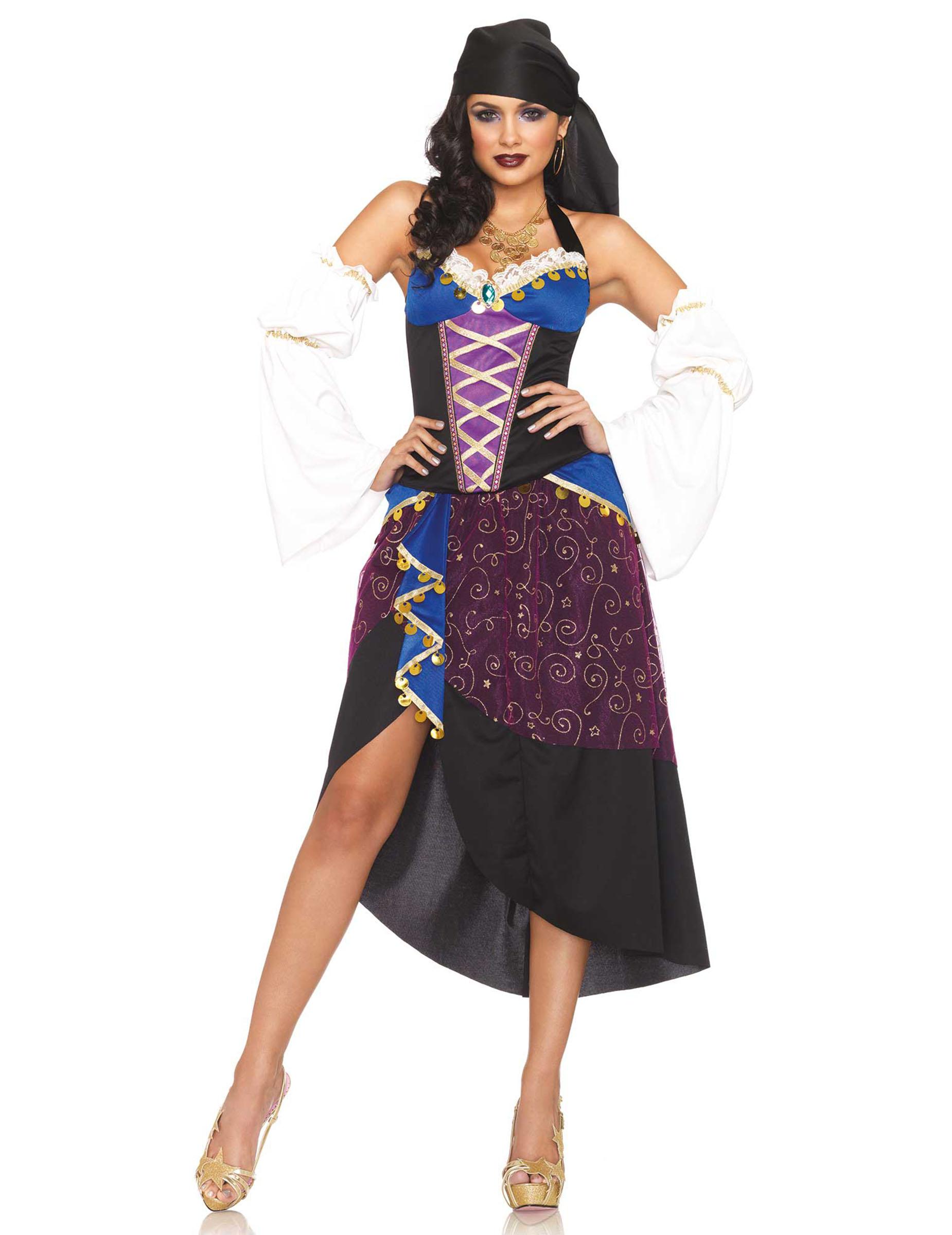 Gitana DonnaCostumi Da Asimmetrica Adulti e Con Per Gonna Costume fIYb7v6gy