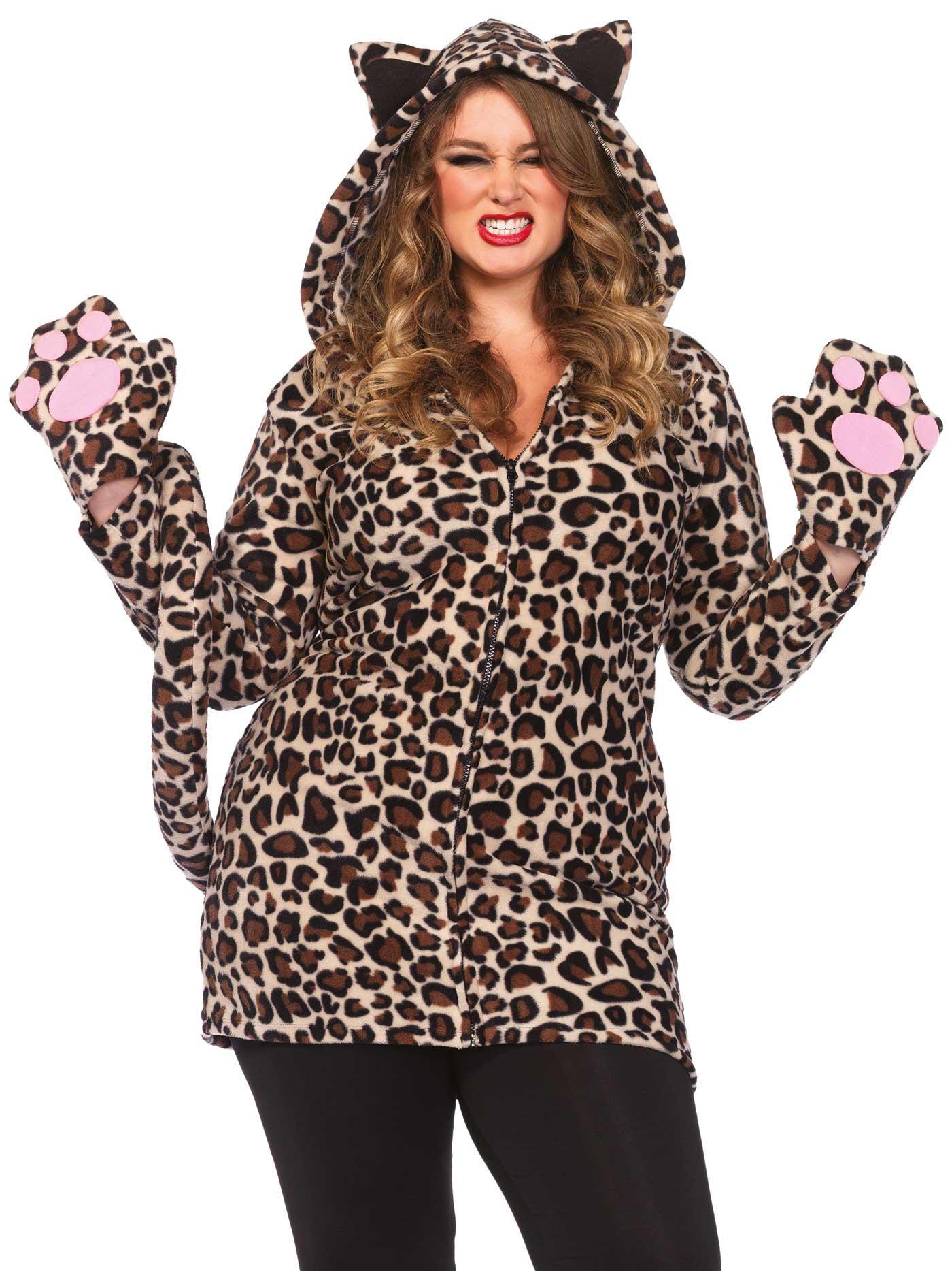 Costume Leopardo donna taglie forti: Costumi adulti,e