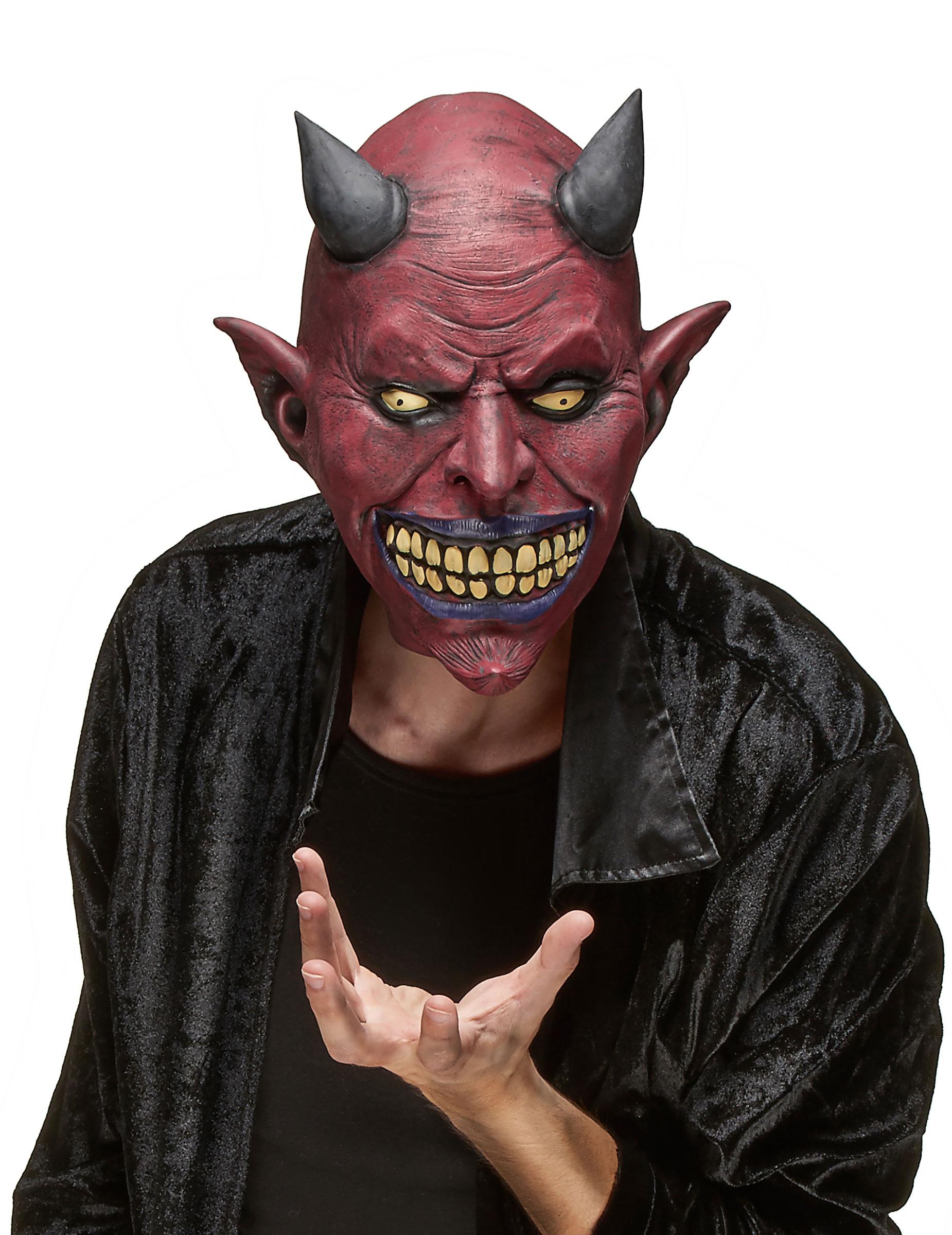 Maschera in lattice diavolo adulto halloween maschere e vestiti di carnevale online vegaoo - Masque halloween qui fait peur ...