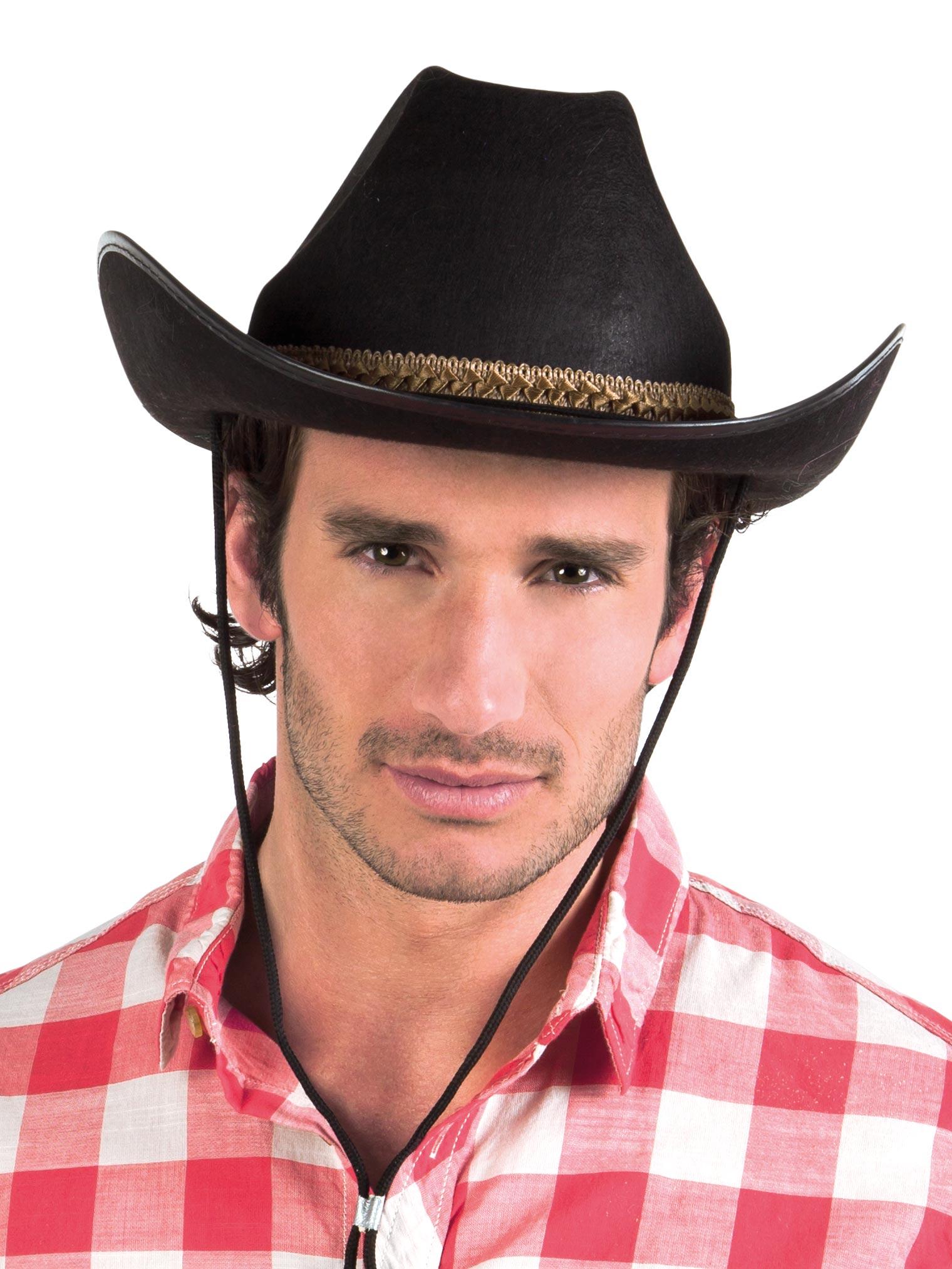 Cappello cowboy nero per adulto  Cappelli 156e3e52bb4b