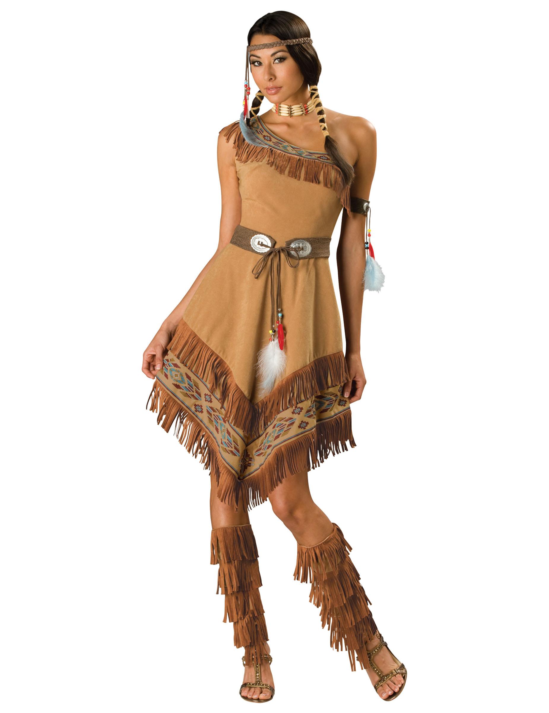 Travestimento Indiana donna - Premium  Costumi adulti 1c518c9bba4c