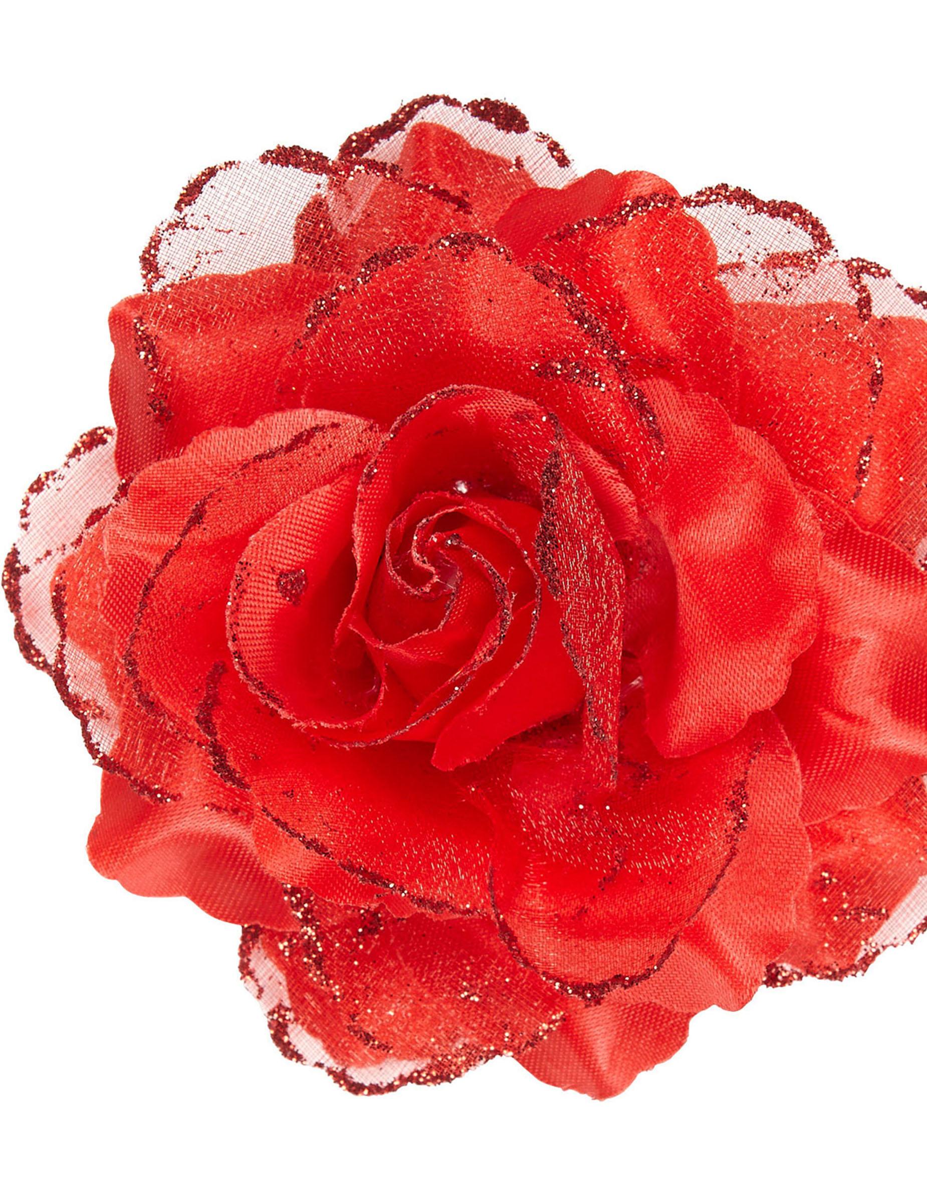 Rosa rossa per capelli donna: Accessori,e vestiti di ...