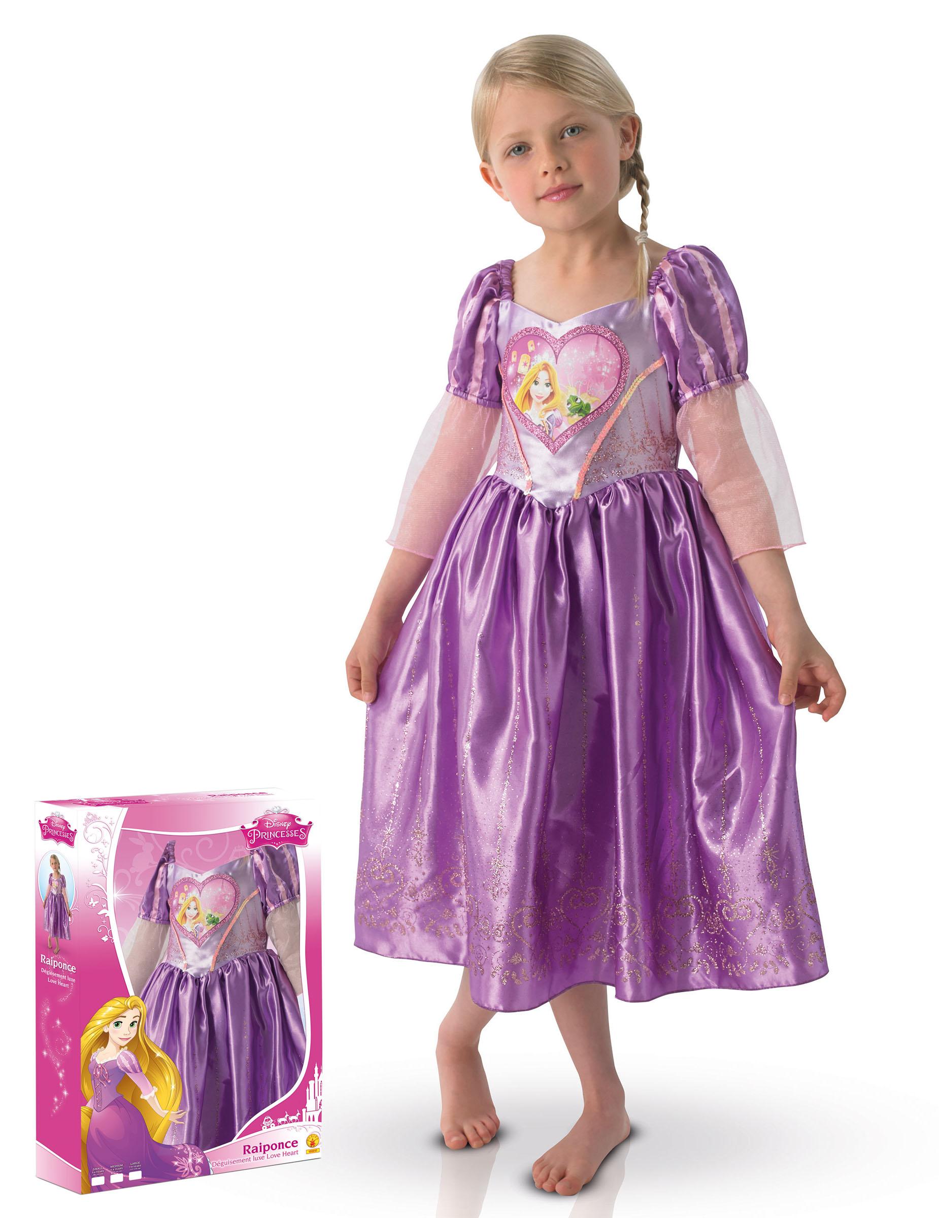 reputazione prima aspetto elegante moda più desiderabile Costume deluxe Rapunzel™ per bimba con cofanetto: Costumi ...
