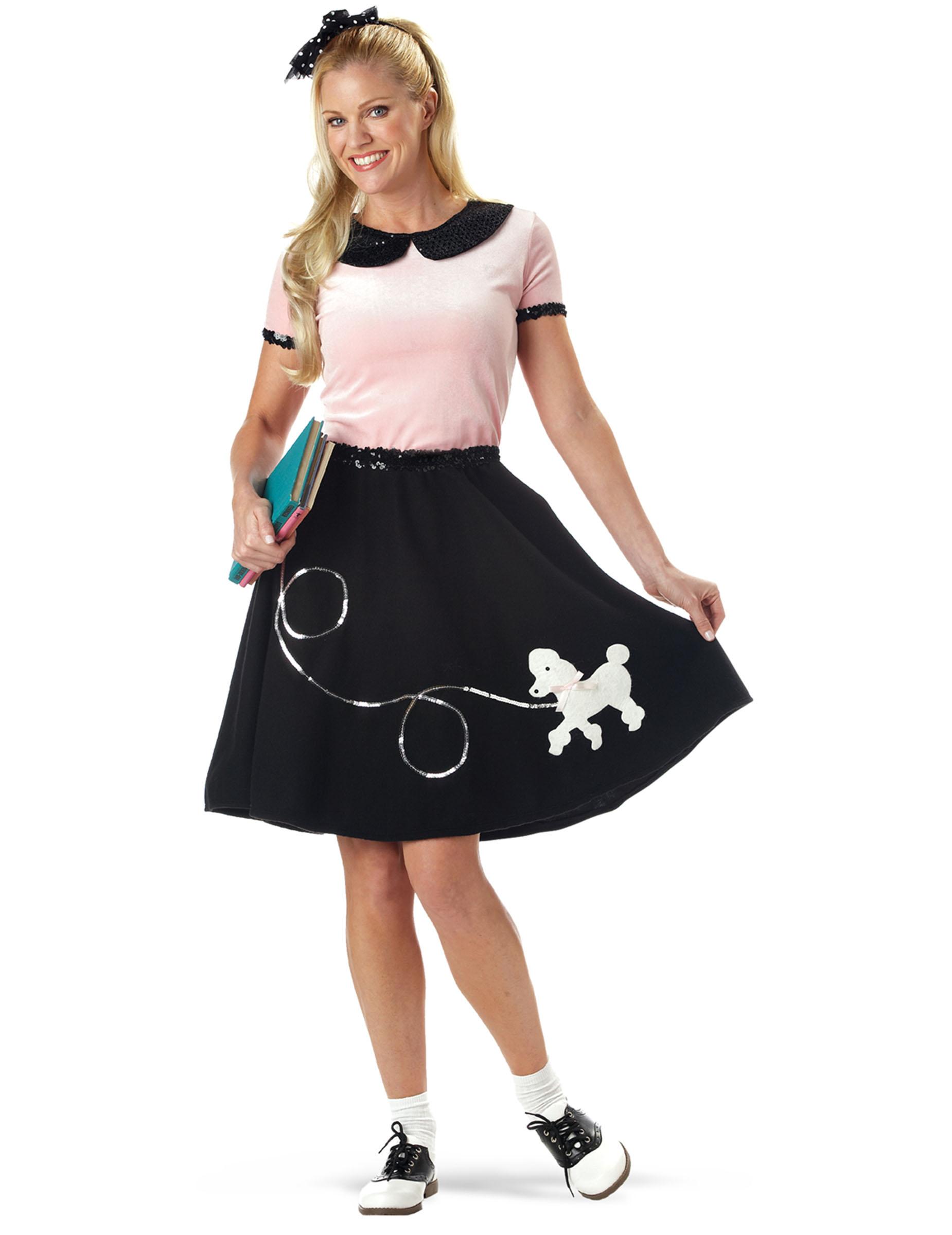 Estremamente Costume Anni '50 nero per donna : Costumi adulti,e vestiti di  SA23