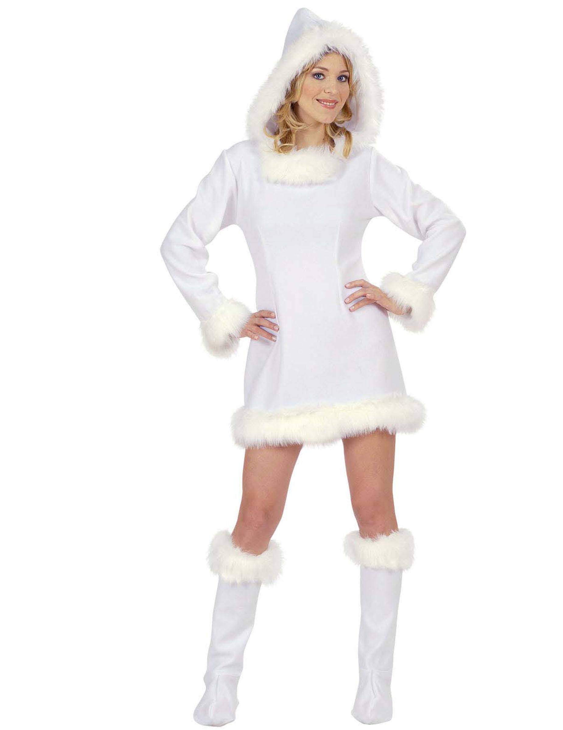 cerca autentico Los Angeles come acquistare Costume eschimese bianco donna: Costumi adulti,e vestiti di ...