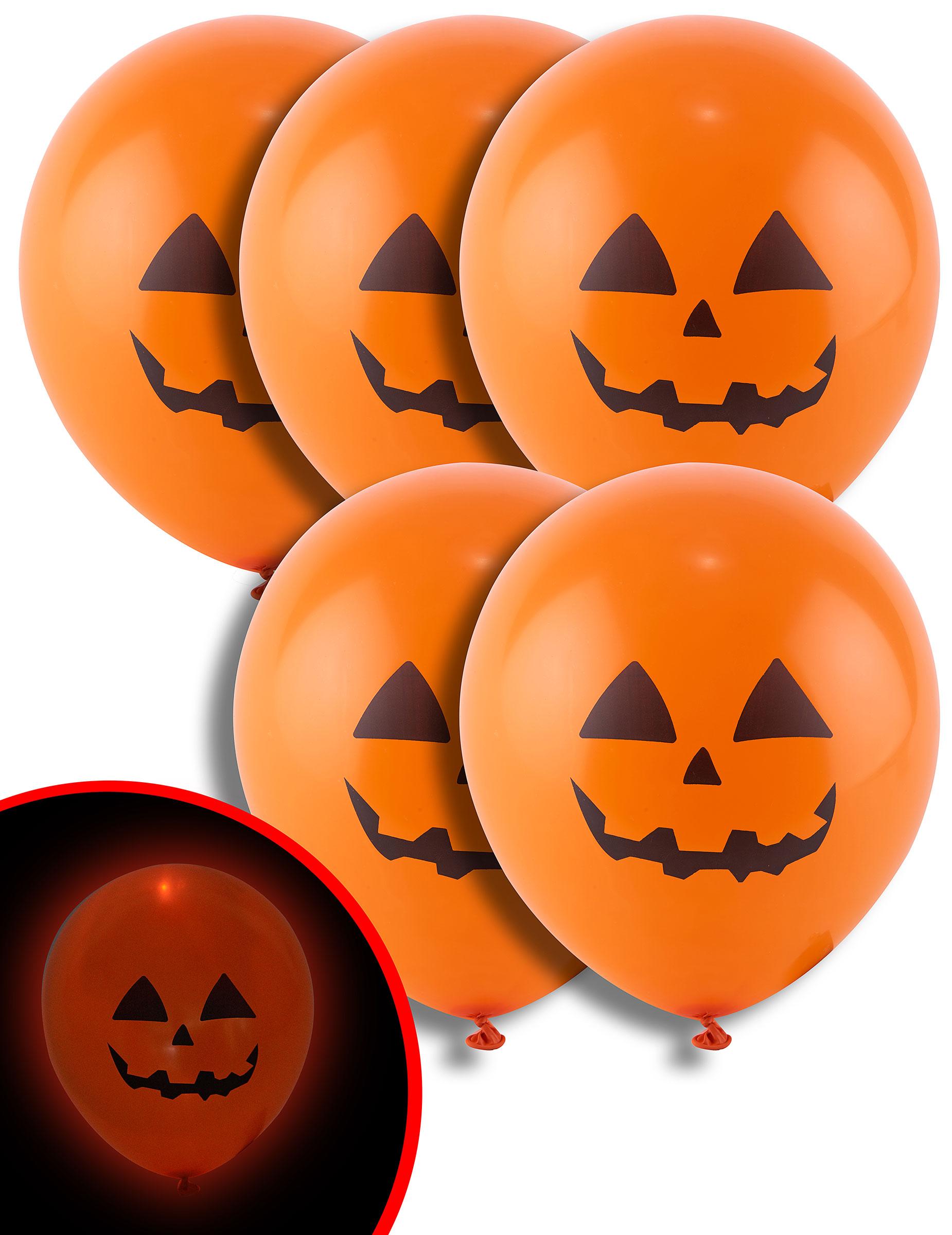 Decorazione Di Halloween 5 Palloncini Zucca Con Led