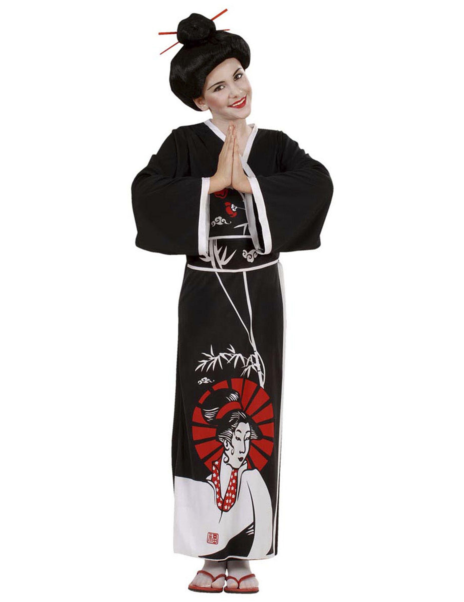 Costume Cinese nero per bambina  Costumi bambini 85e427365ddd
