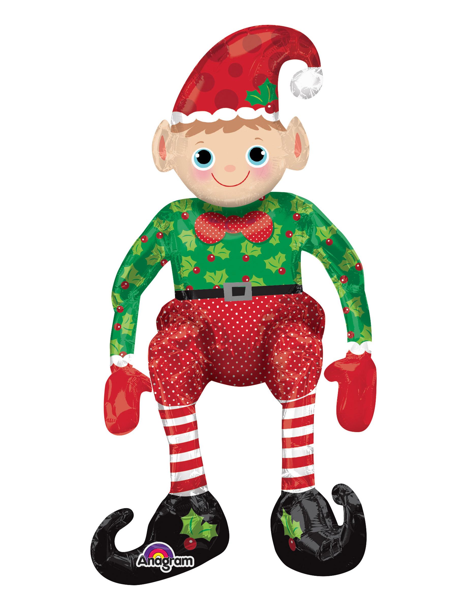 Palloncino in alluminio Elfo di Babbo Natale gigante  Addobbi 6ae1c019a5fd