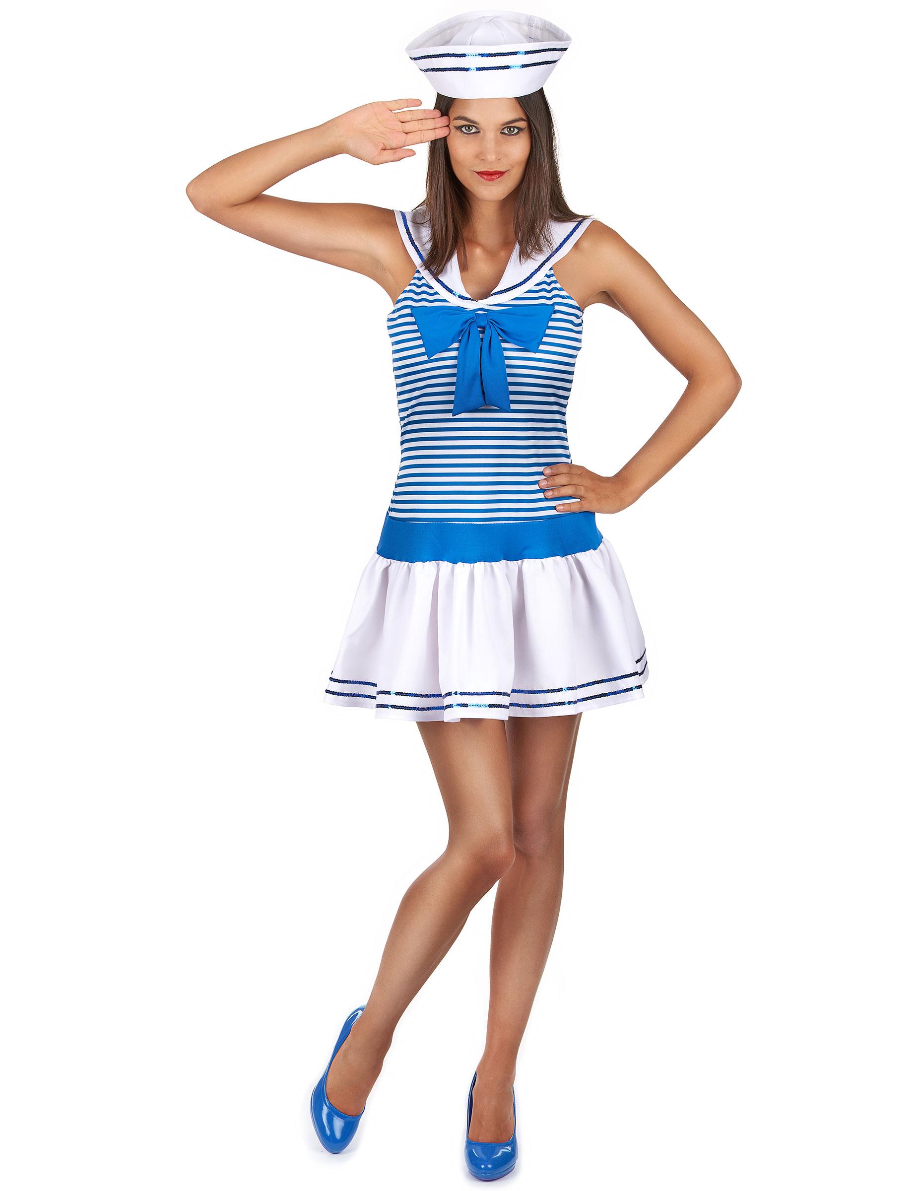 Travestimento marinaia sexy donna  Costumi adulti c0d5781c607e