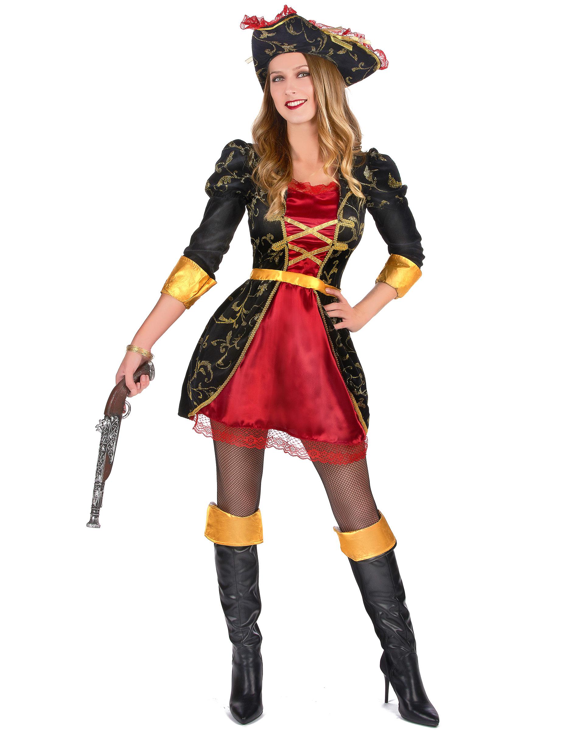 Costume pirata barocco donna: Costumi adulti,e vestiti di ...