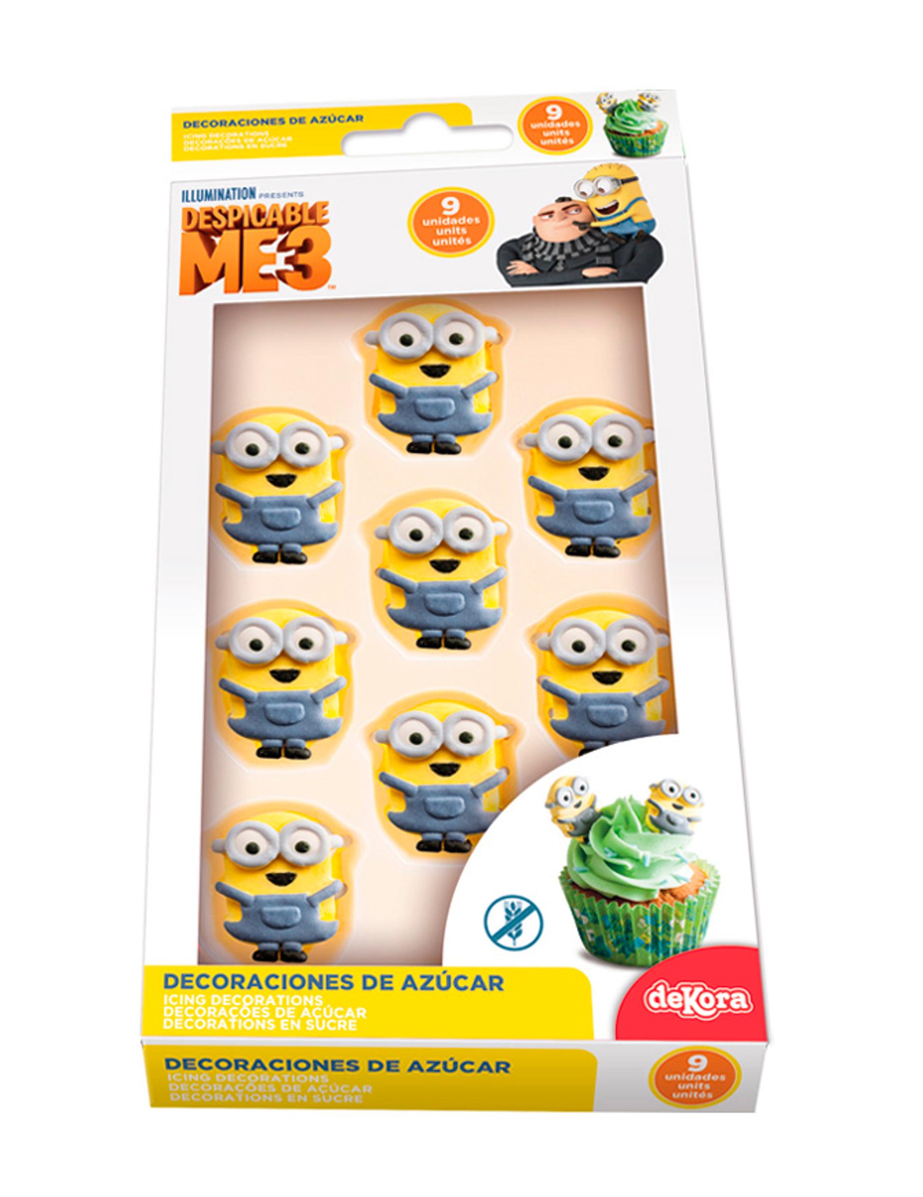 Piccole decorazioni di zucchero per torte minions for Decorazioni torte on line
