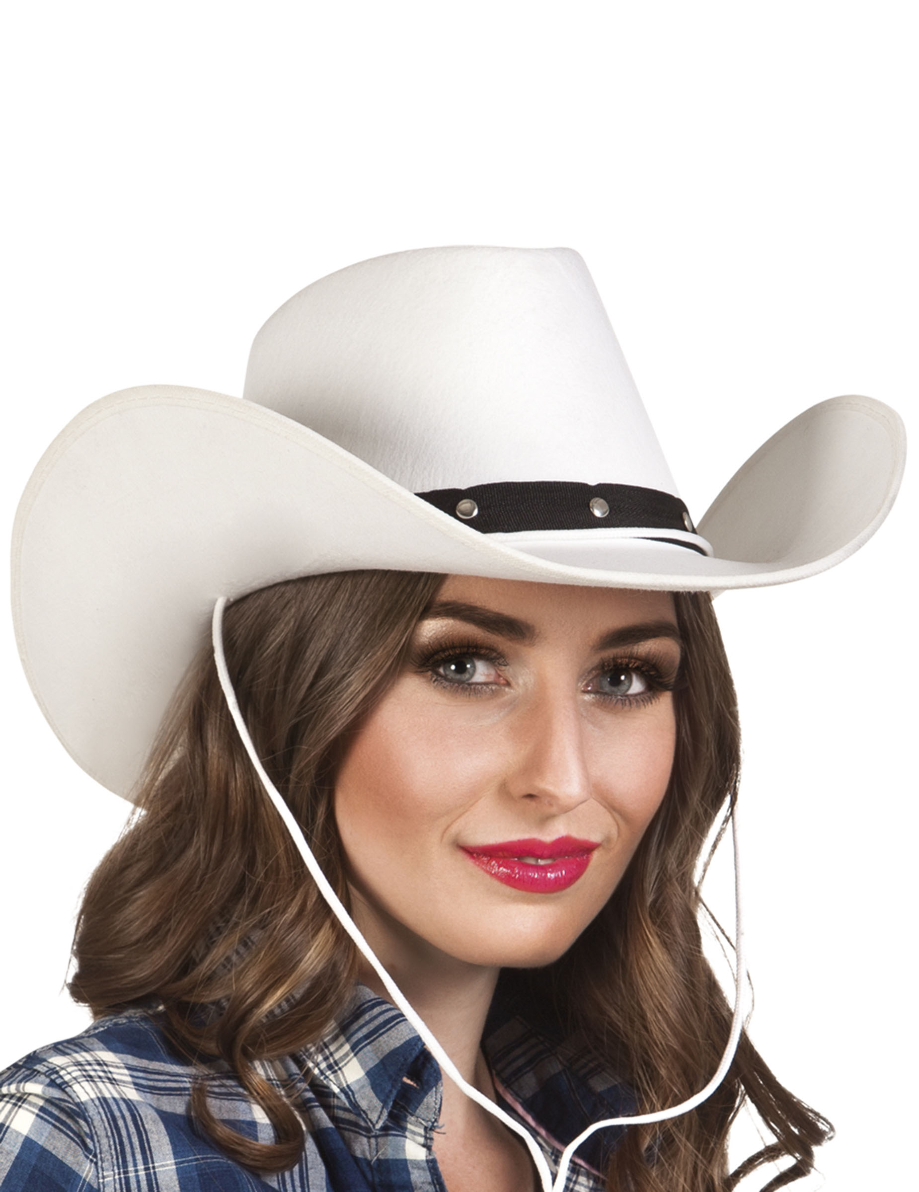 Cappello Cowboy bianco per adulto  Cappelli a3749eeaa5aa