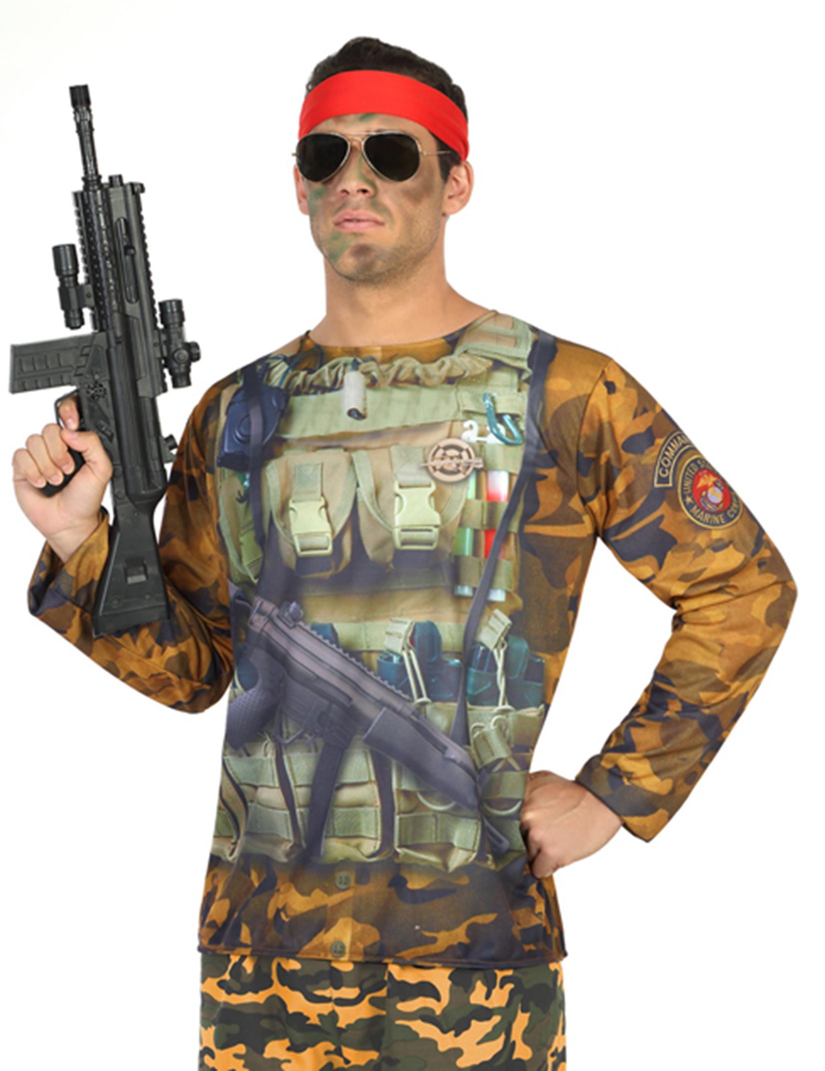 Maglietta da militare per uomo  Costumi adulti dade6807bd93