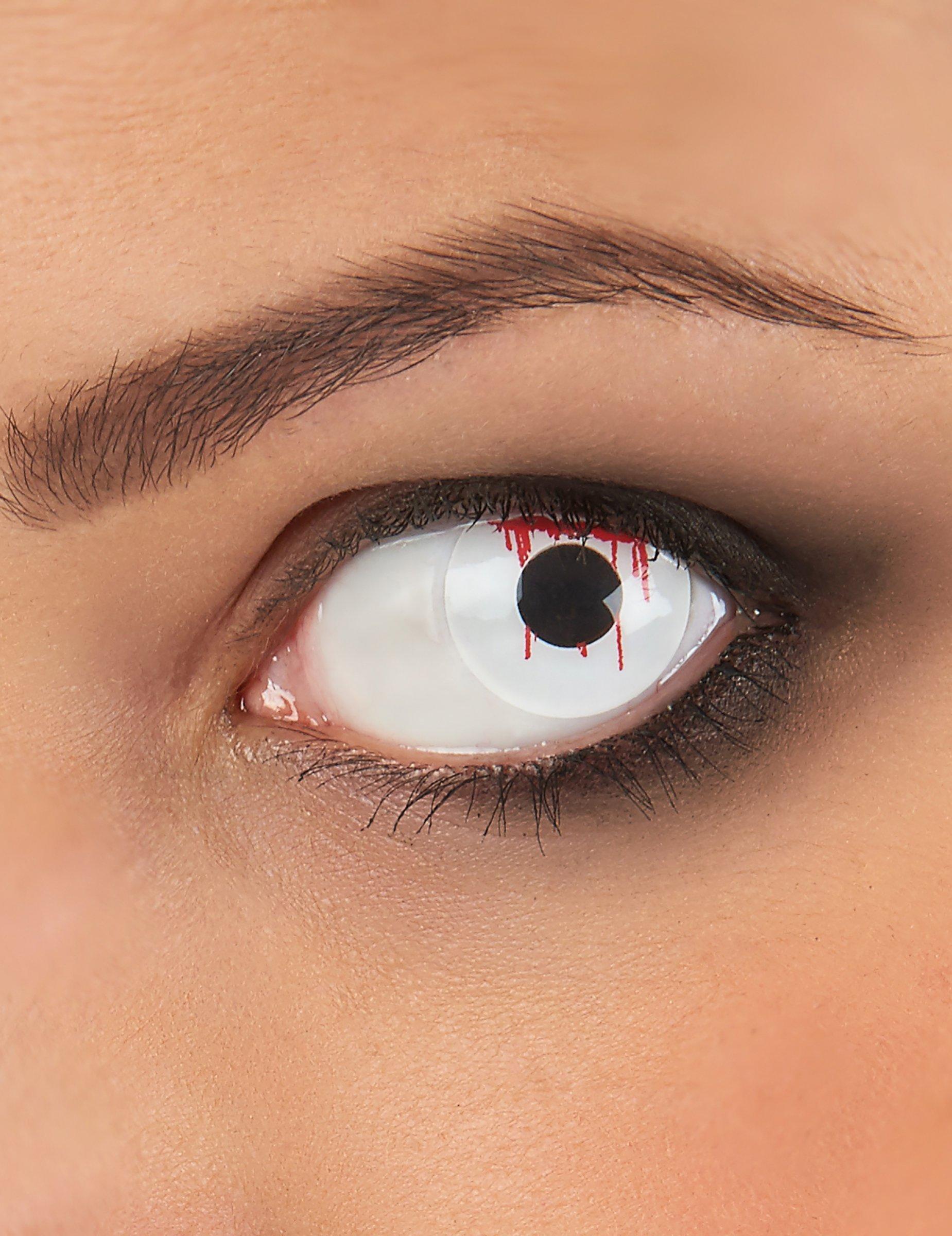 Lenti a contatto fantasia occhio ferito adulto Halloween  Trucco 57a9e2d87e4e