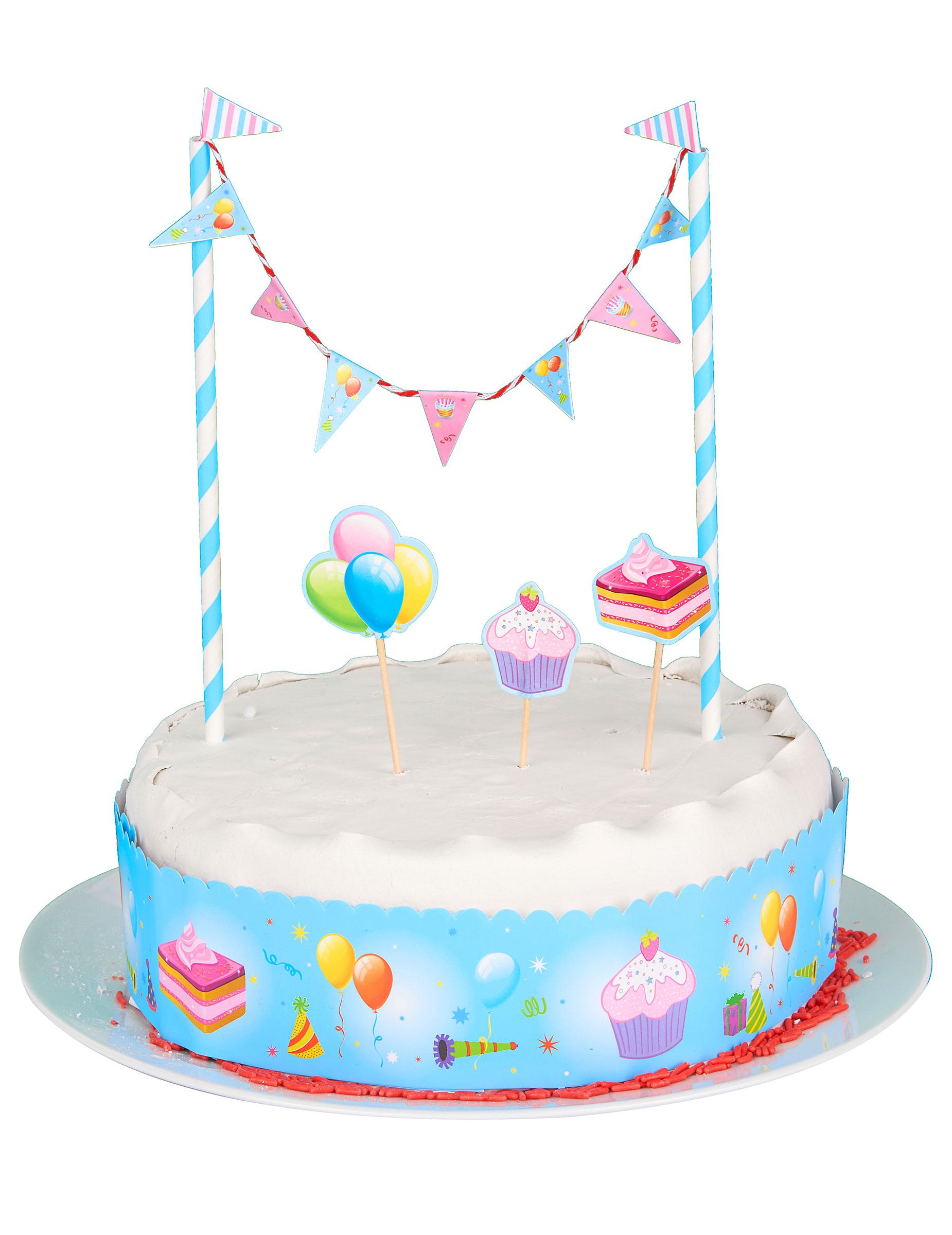 Decorazione Per Torte Con Mini Ghirlanda Addobbi E