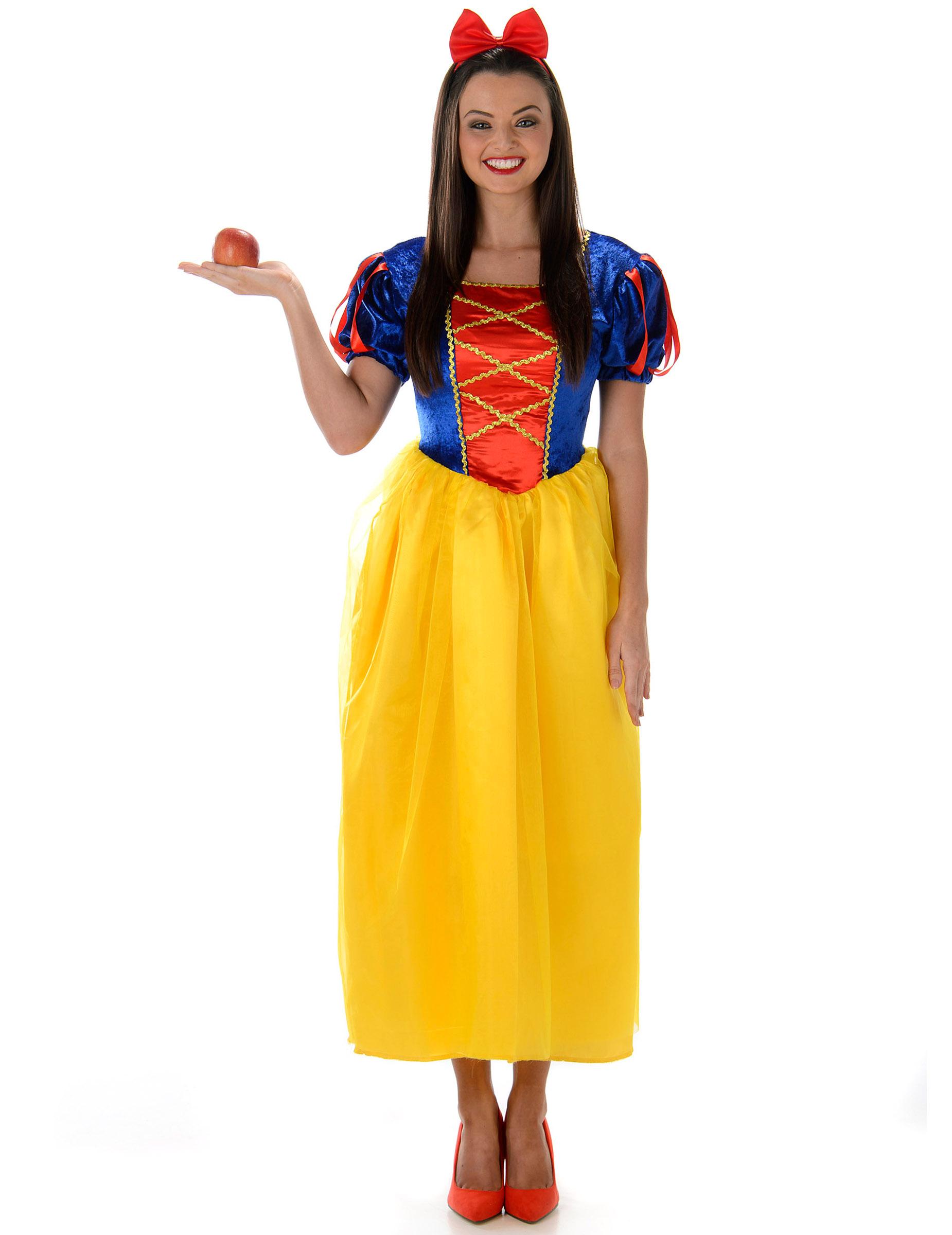 Costume da principessa donna con gonna gialla costumi - Costume da bagno intero con gonna ...