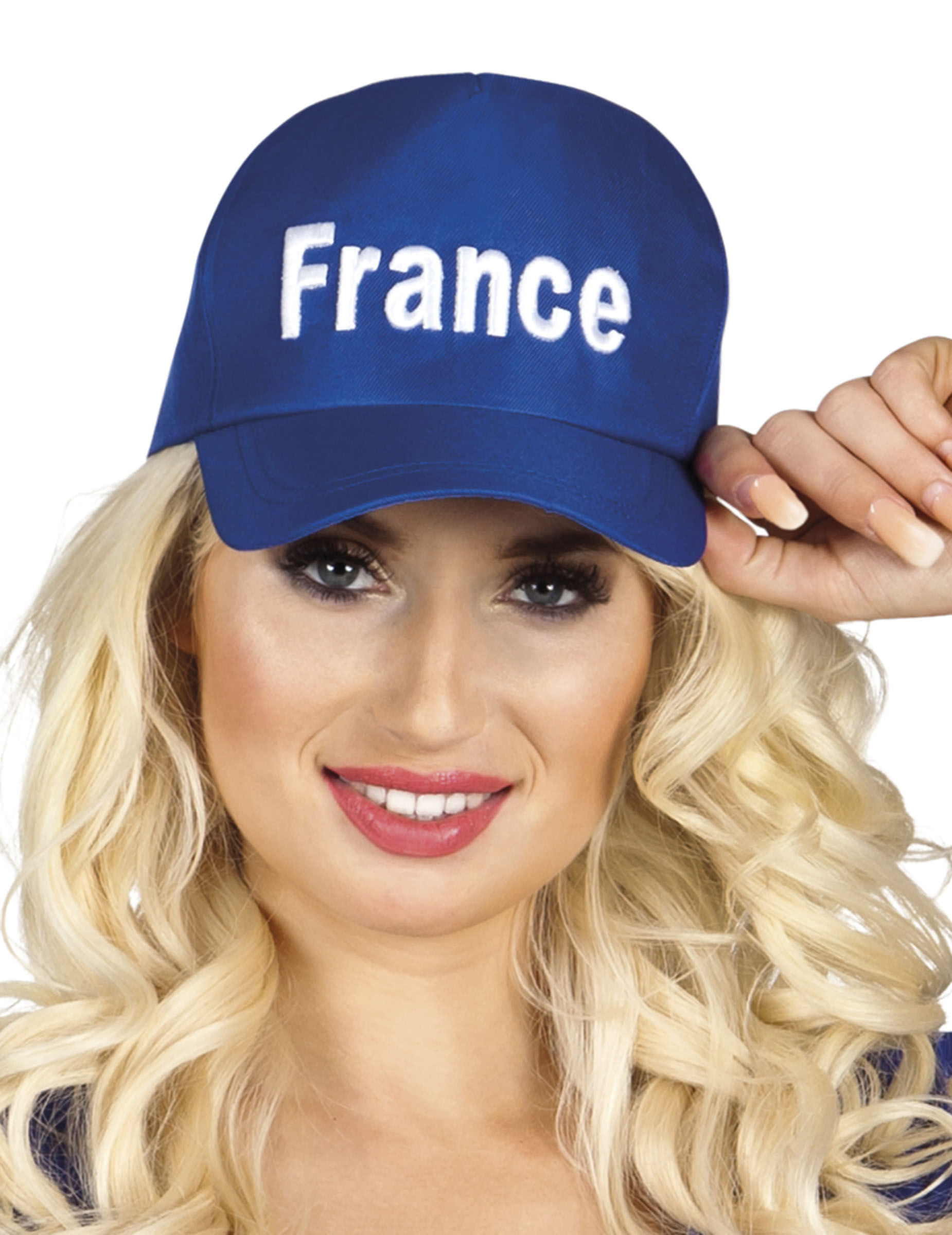 Cappellino con visiera blu tifoso Francia  Cappelli 27d12246350d